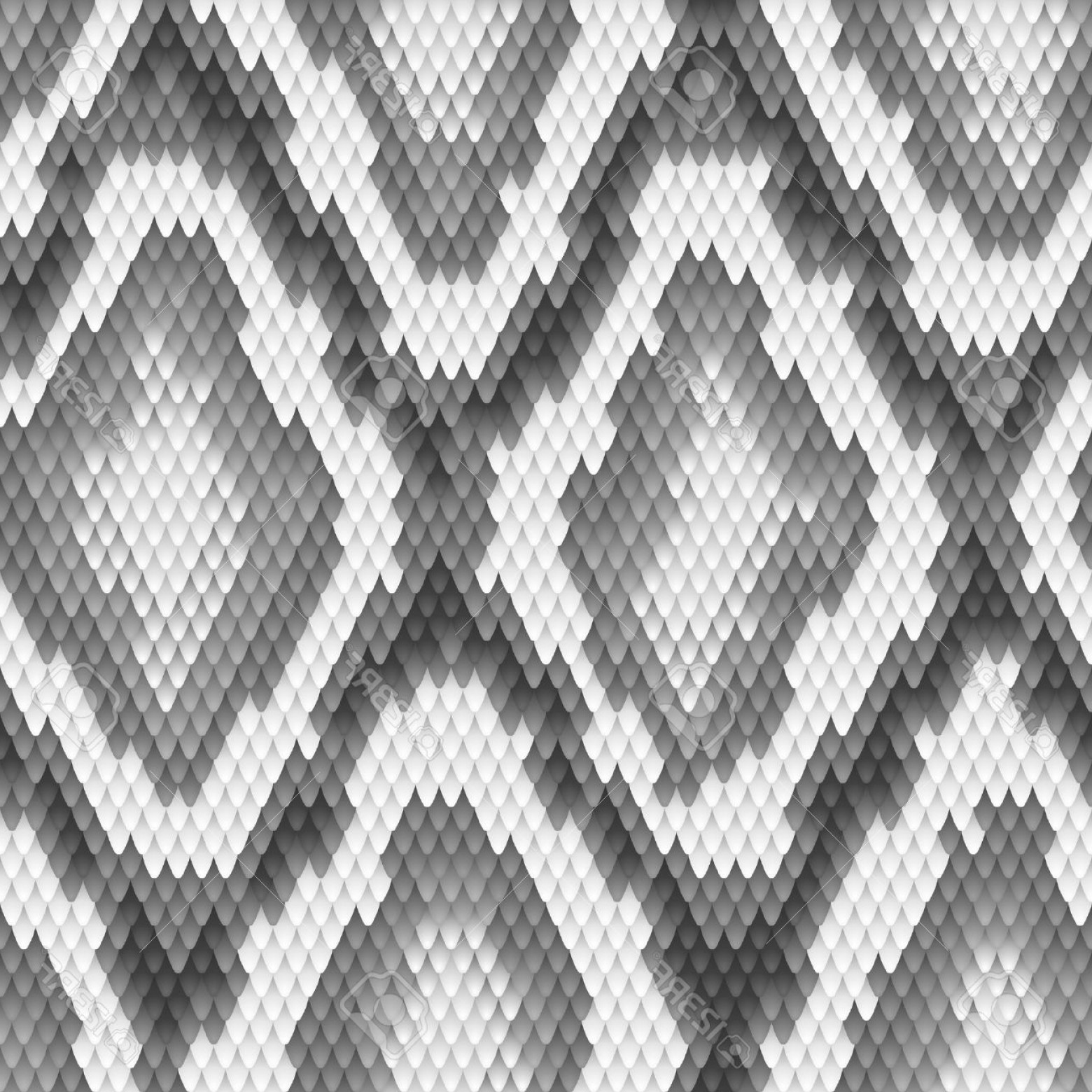 Rattlesnake Skin Vector: Photoseamless Python Snake Skin Pattern Vector Illustration