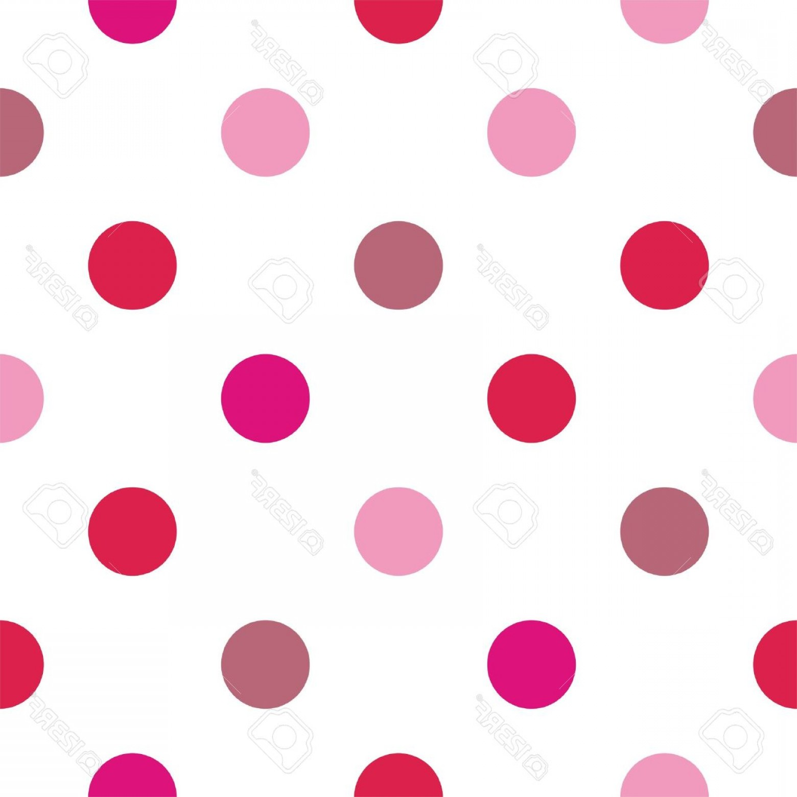 Polka Dot Background Vector Y: Photoseamless Vector Pattern Pink And Red Polka Dots On White Background