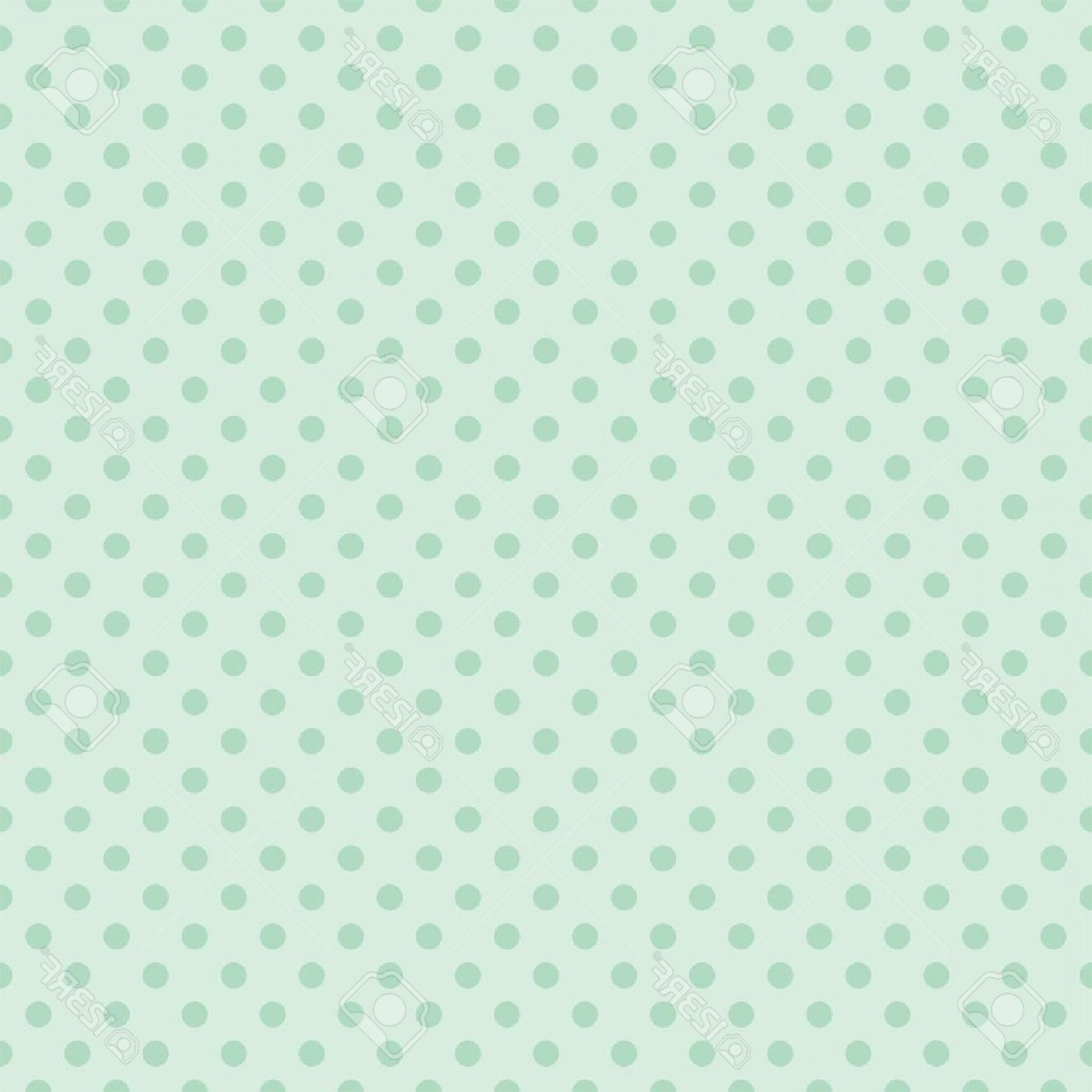 Free Vintage Vector Desktop Wallpaper: Photoseamless Vector Pattern With Dark Mint Green Polka Dots On A Retro Vintage Light Green Background Fo