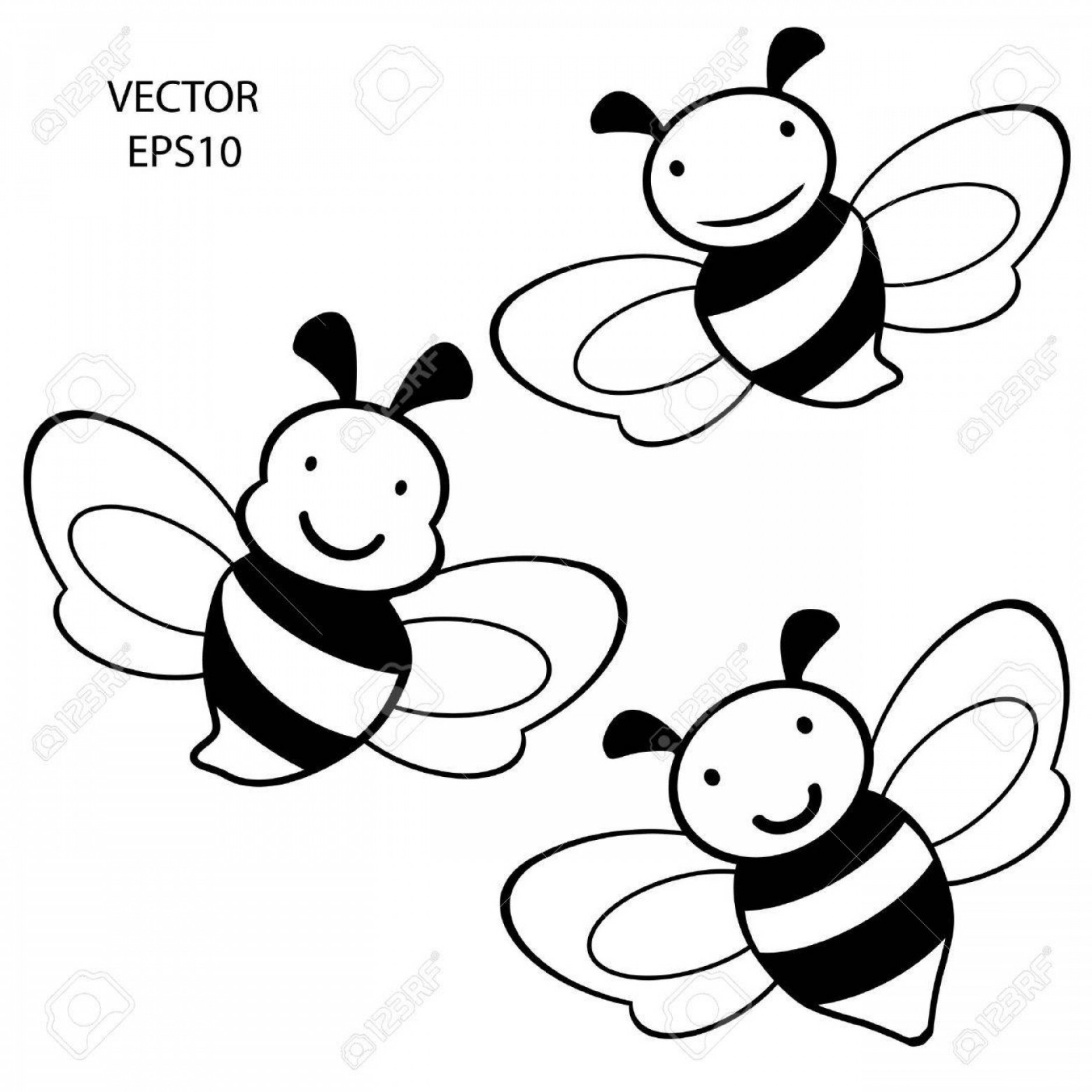 Bee Outline Vector: Photoset Of Feeling On Small Face Of Baby Bee Bee Icon Bee Drawing Bee Outline Vector