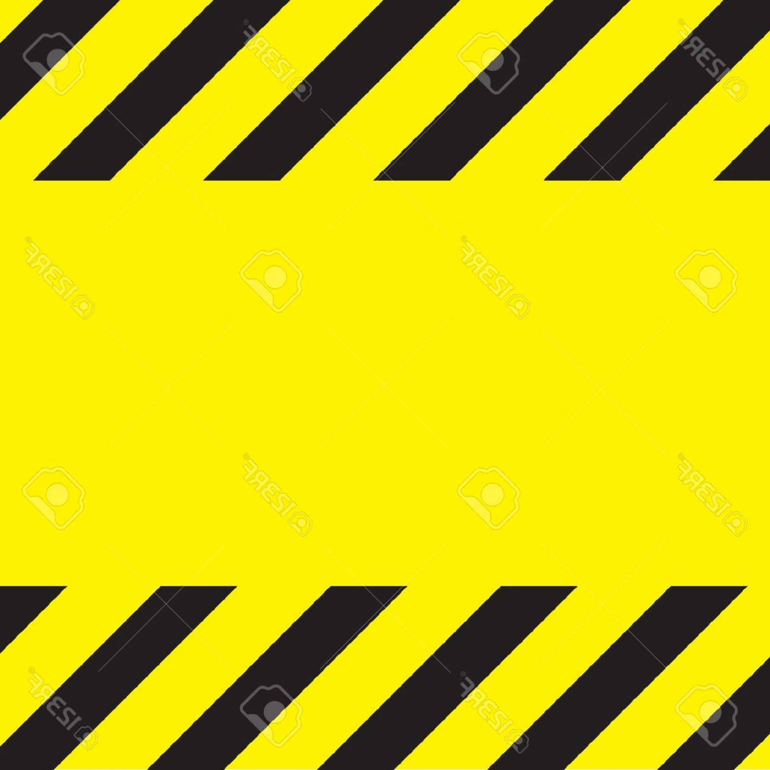 Caution Stripes Vector: Photosimple Caution Construction Background Stripes On Yellow