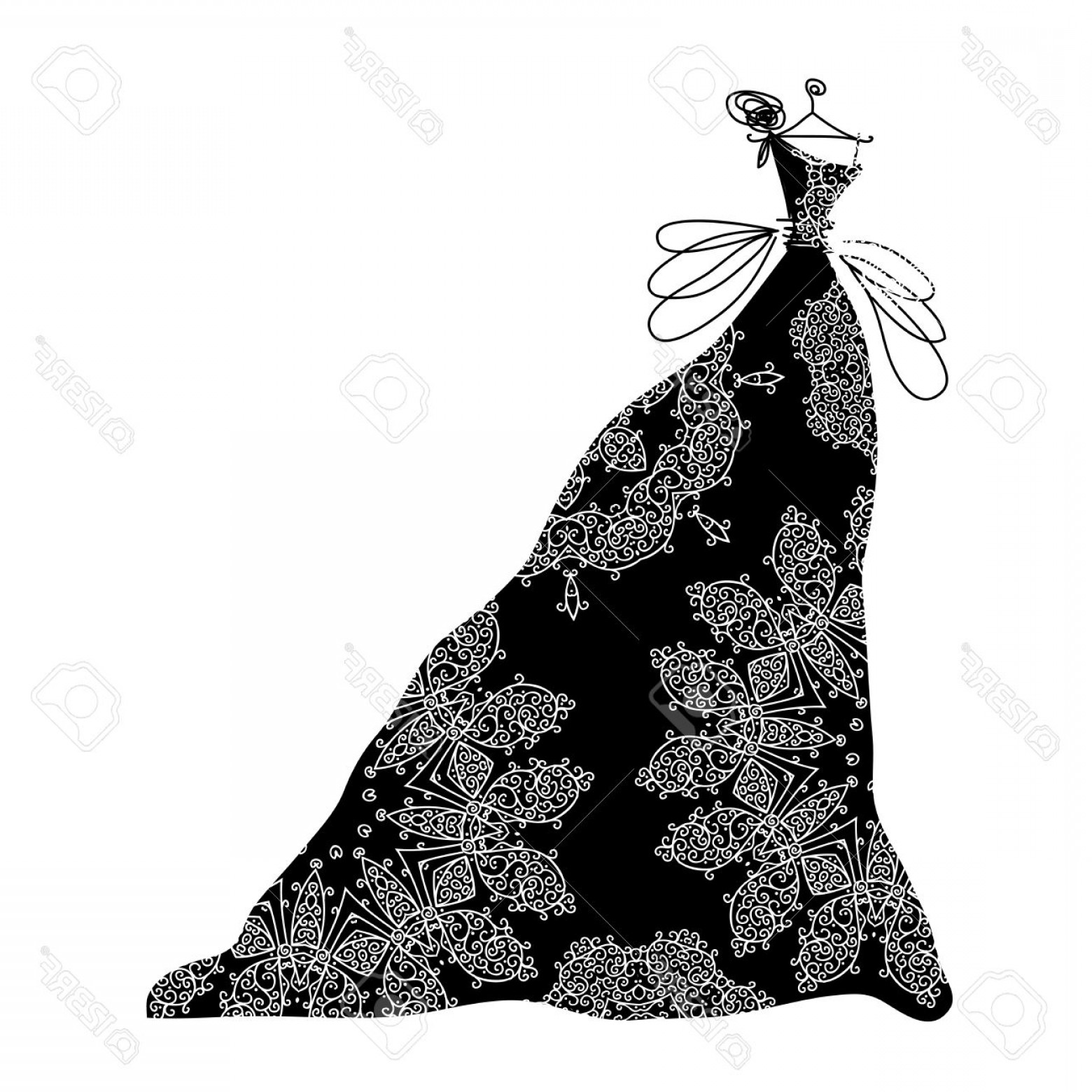 Vector Images Of Black And White Dresses Photosketch Of Ornamental
