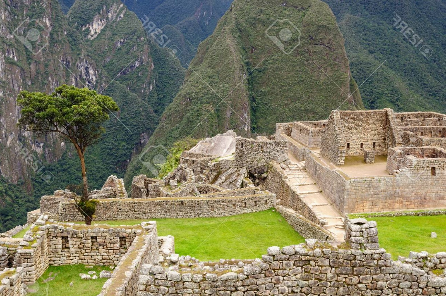 Vector South America Ancient Ruins: Photosouth America Peru Machu Picchu The Lost Ancient Incas Town On The Inka Trail