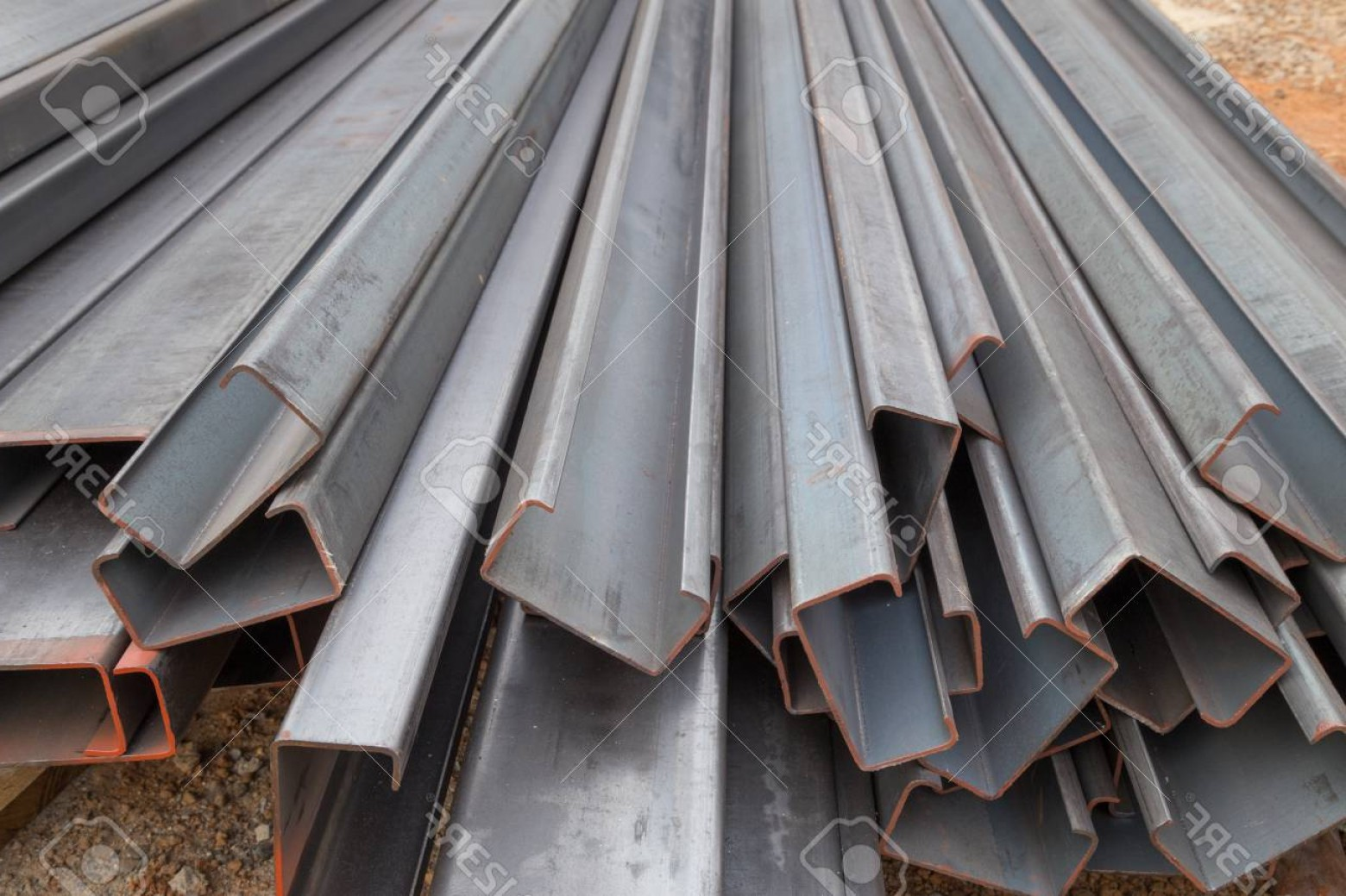 Chanel C Vector: Photosteel Channel Steel C Chanel At Construction Site