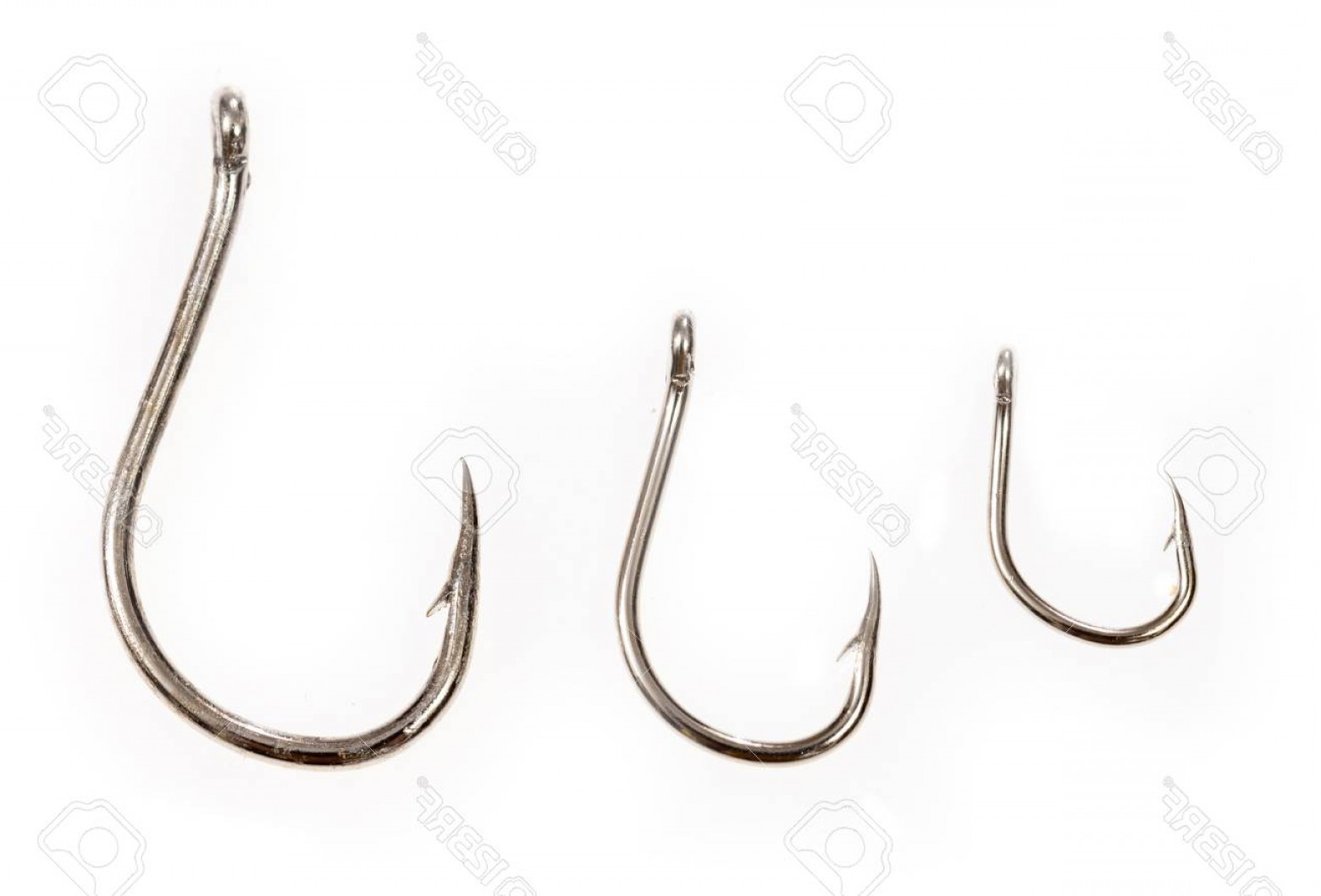 Heard Fishing Hook Vector: Photostock Illustration Fishing Hooks Set Sharp Treble And Worm Type Gear For Tourism And Hobby Device For Catching Fish Vec