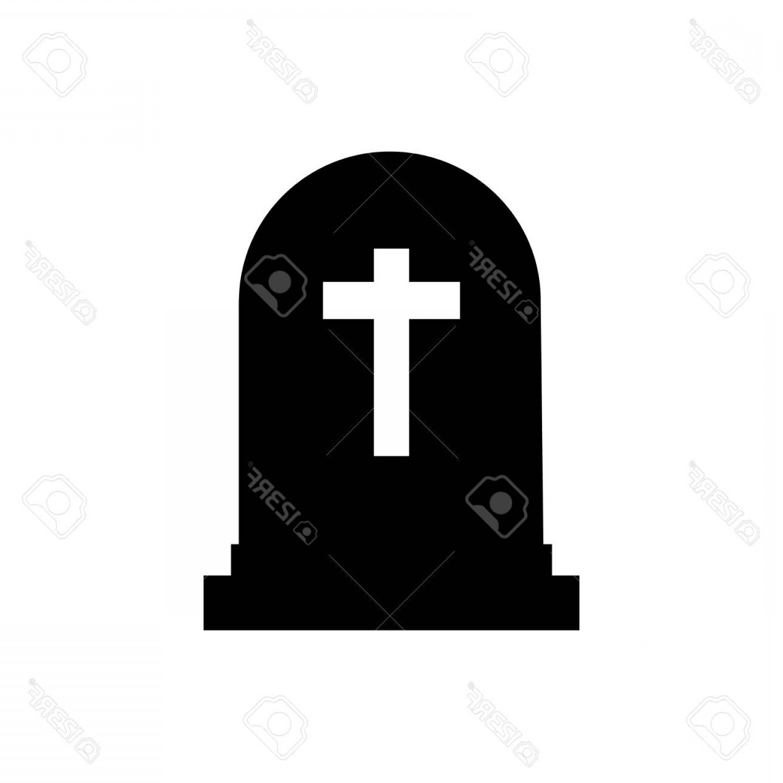 Gravestone Outline Vector: Photostock Illustration Halloween Grave Icon Silhouette Gravestone Vector Illustration Rip Tombstone Flat Icon