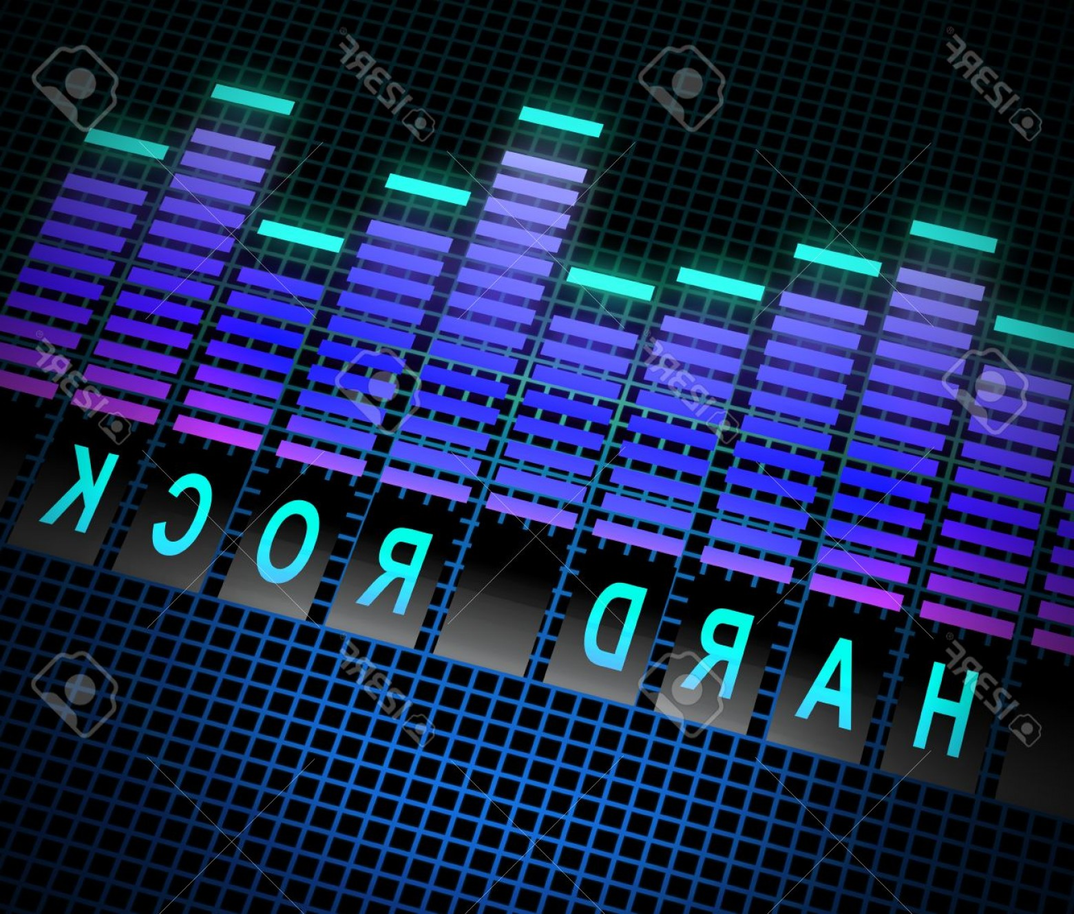 Rock Band Equalizer Vector: Photostock Illustration Illustration Depicting Graphic Equalizer Levels With A Hard Rock Concept