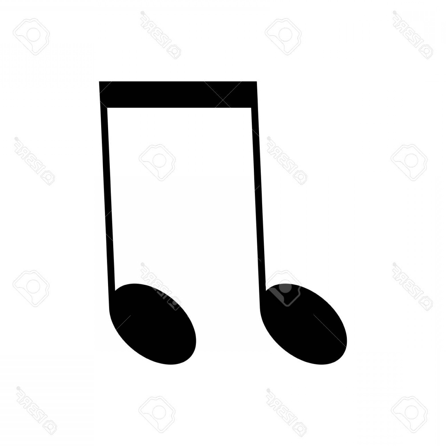 Eighth Note Vector: Photostock Illustration Isolated Musical Note Eighth Note Vector Illustration