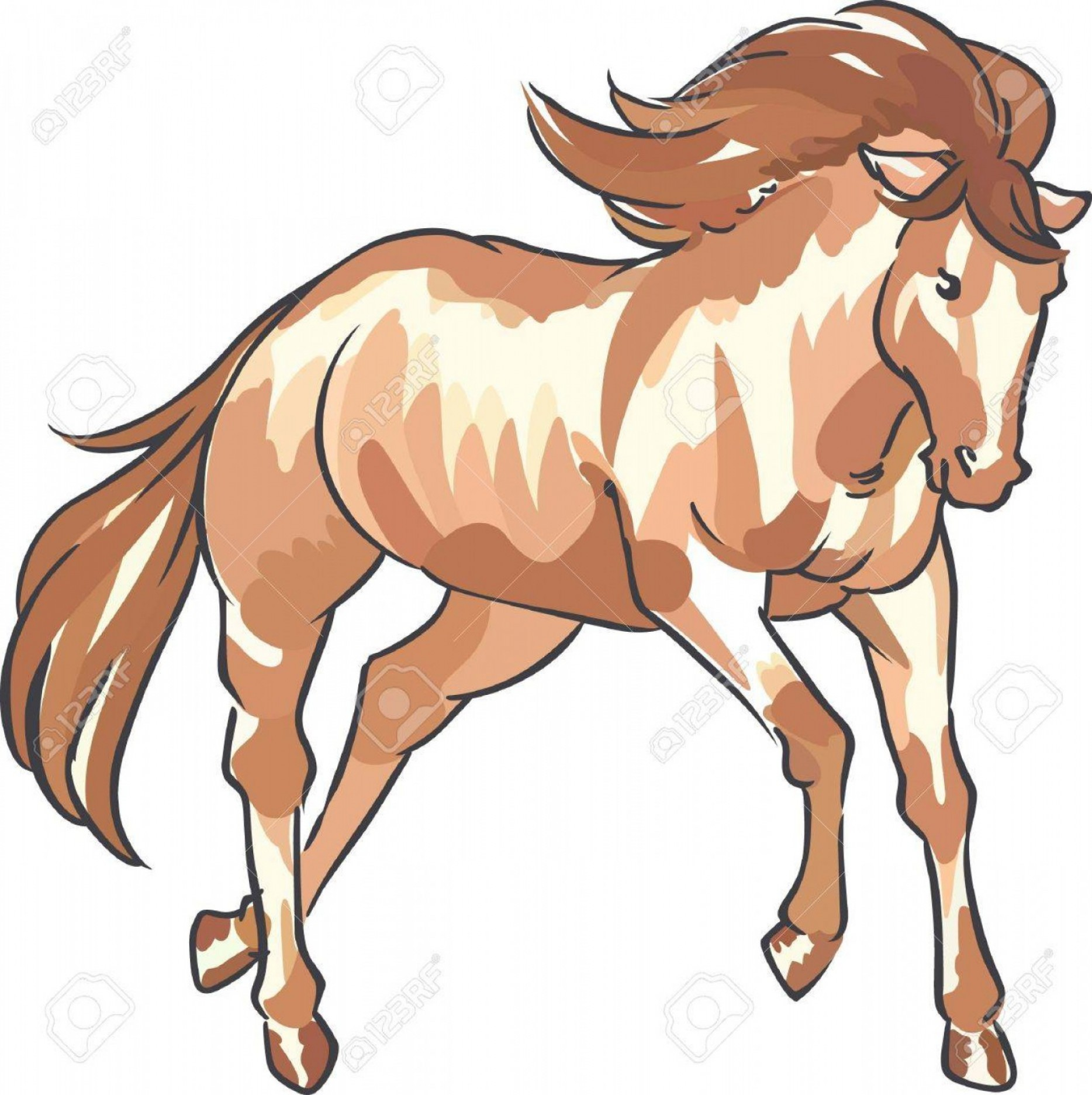 Vector Hinge Western: Photostock Vector A Beautiful Horse Is A Classic Western Dcor