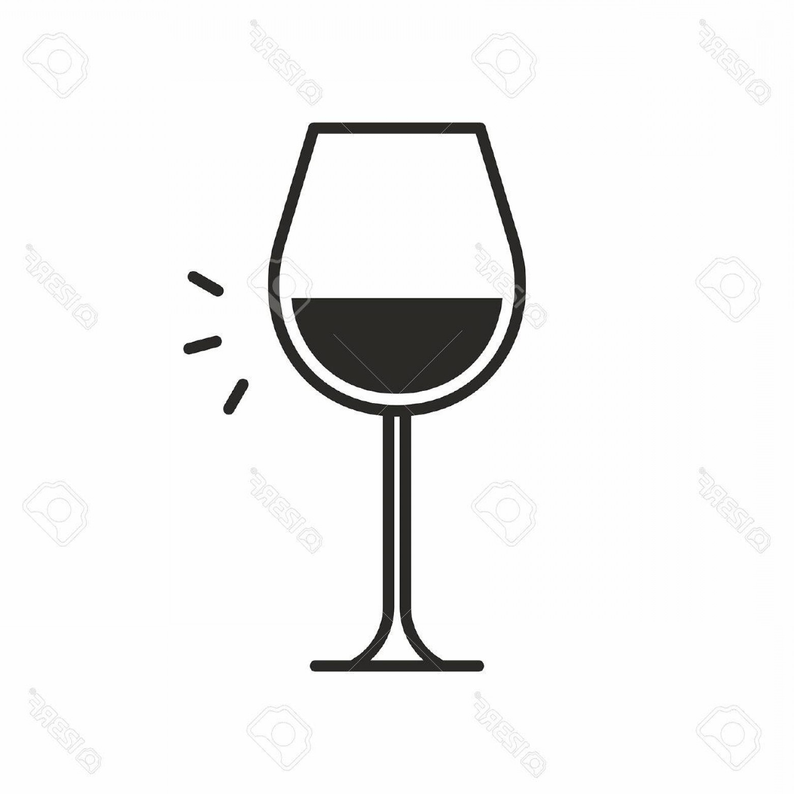 Single Wine Glass Silhouette Vector: Photostock Vector A Black Silhouette Illustration Of Alcohol In A Wine Glass Cocktail Icon Isolated On White