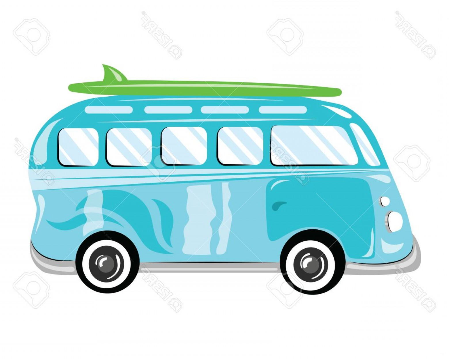 Volkswagen Bus Vector: Photostock Vector A Cartoon Bus Vector Illustration Of Transport Picture Of A Bus Of Children