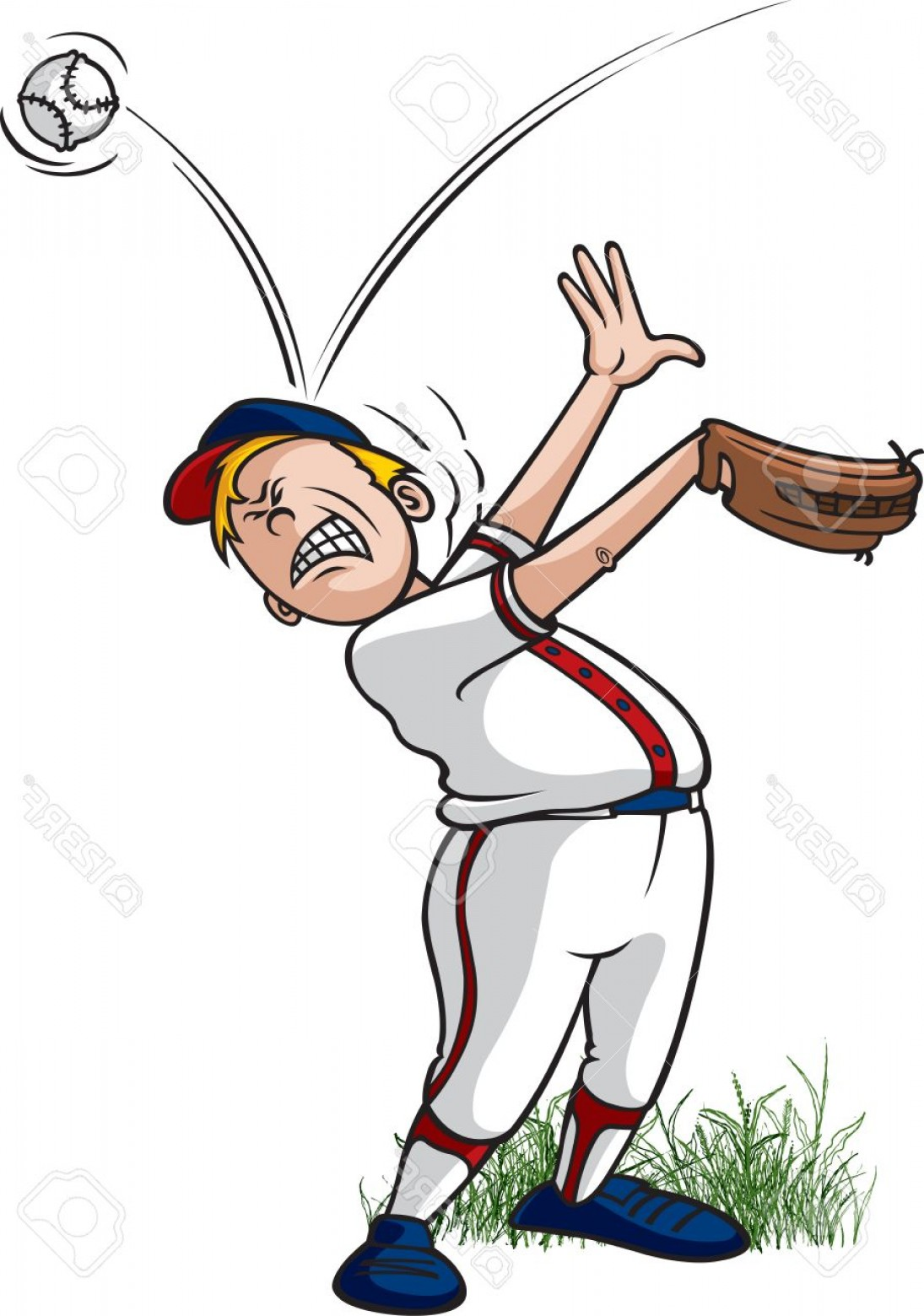 Little League Baseball Vector Logo No Text: Photostock Vector A Cartoon Little League Baseball Player Getting Hit On The Head By A Baseball