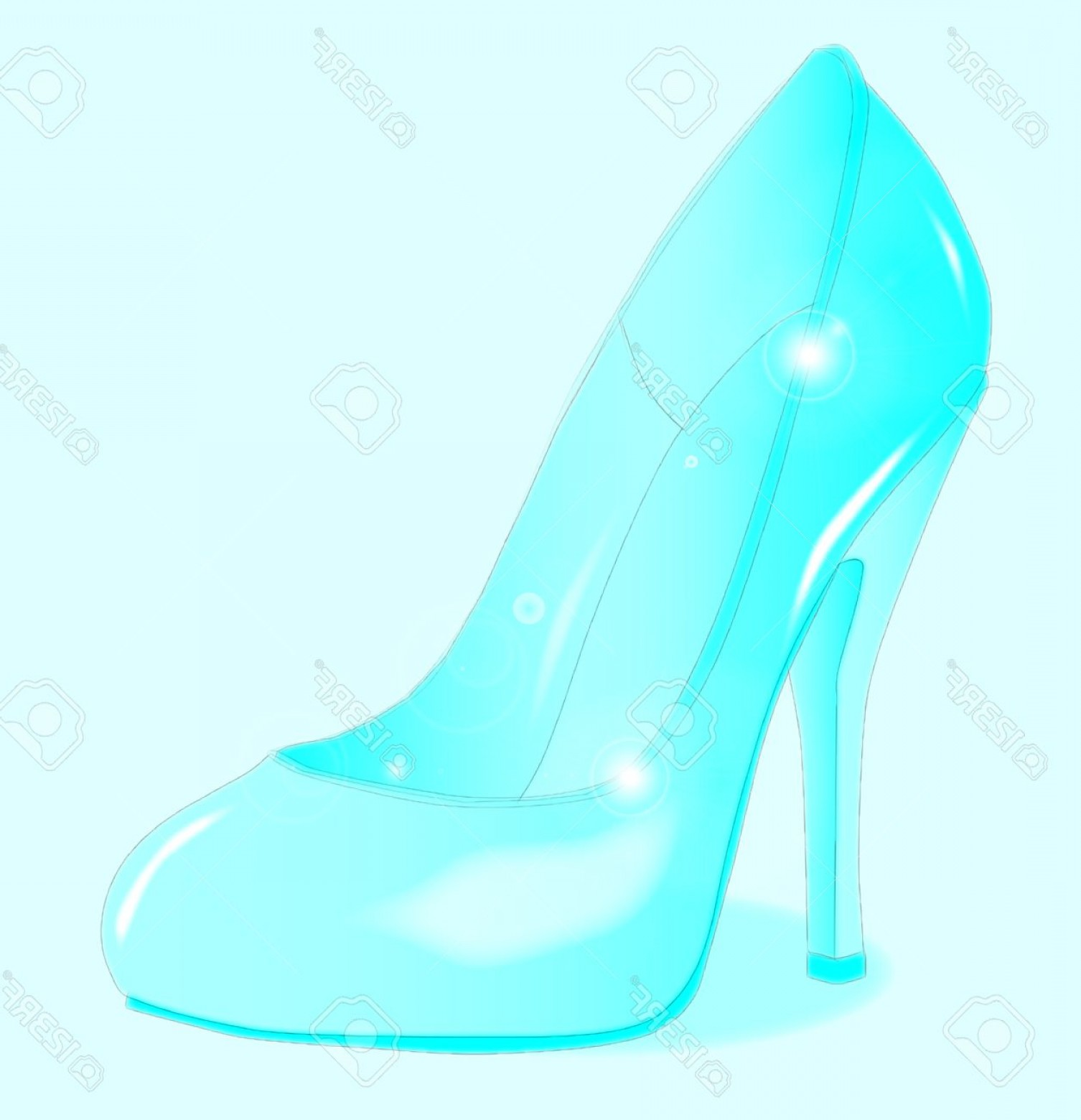 Silhouette Hee High Vector Lsitleetios: Photostock Vector A Glass See Through Stiletto Heel Shoe