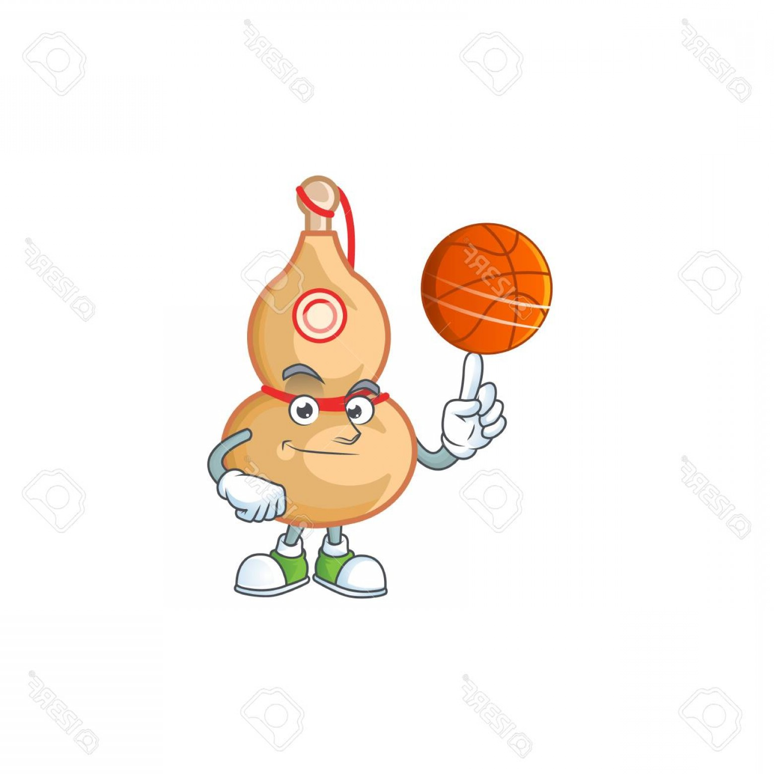Cartoon Basketball Vector: Photostock Vector A Healthy Chinese Wine Bottle Cartoon Character Playing Basketball Vector Illustration