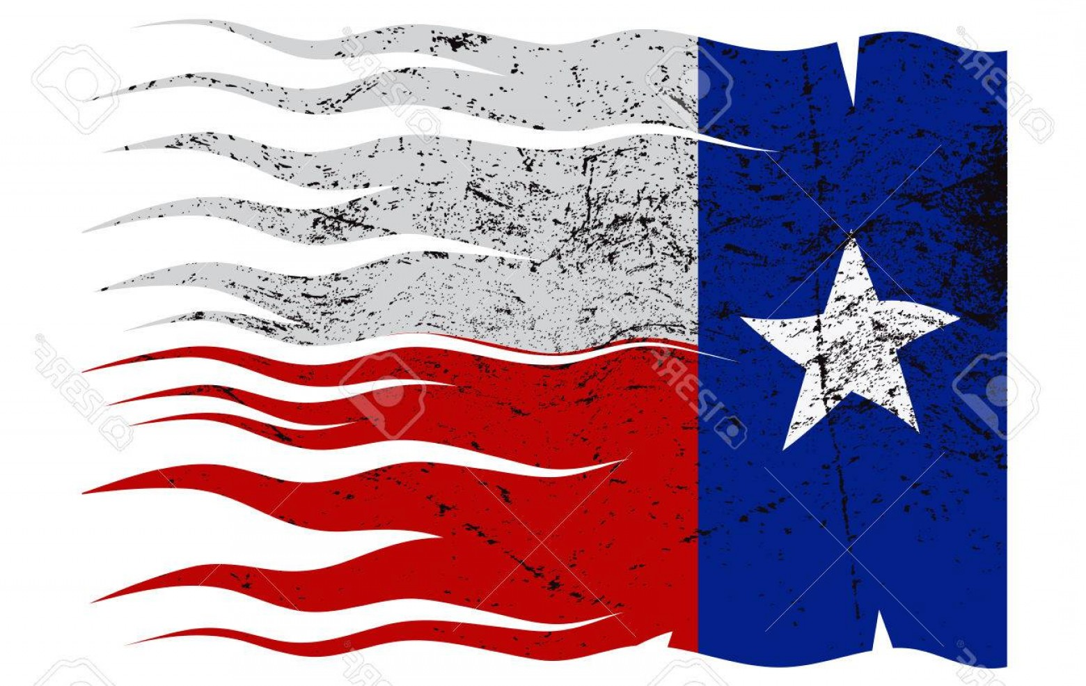 Texas Flag Vector Art: Photostock Vector A Texas Flag Design Isolated On A White Background