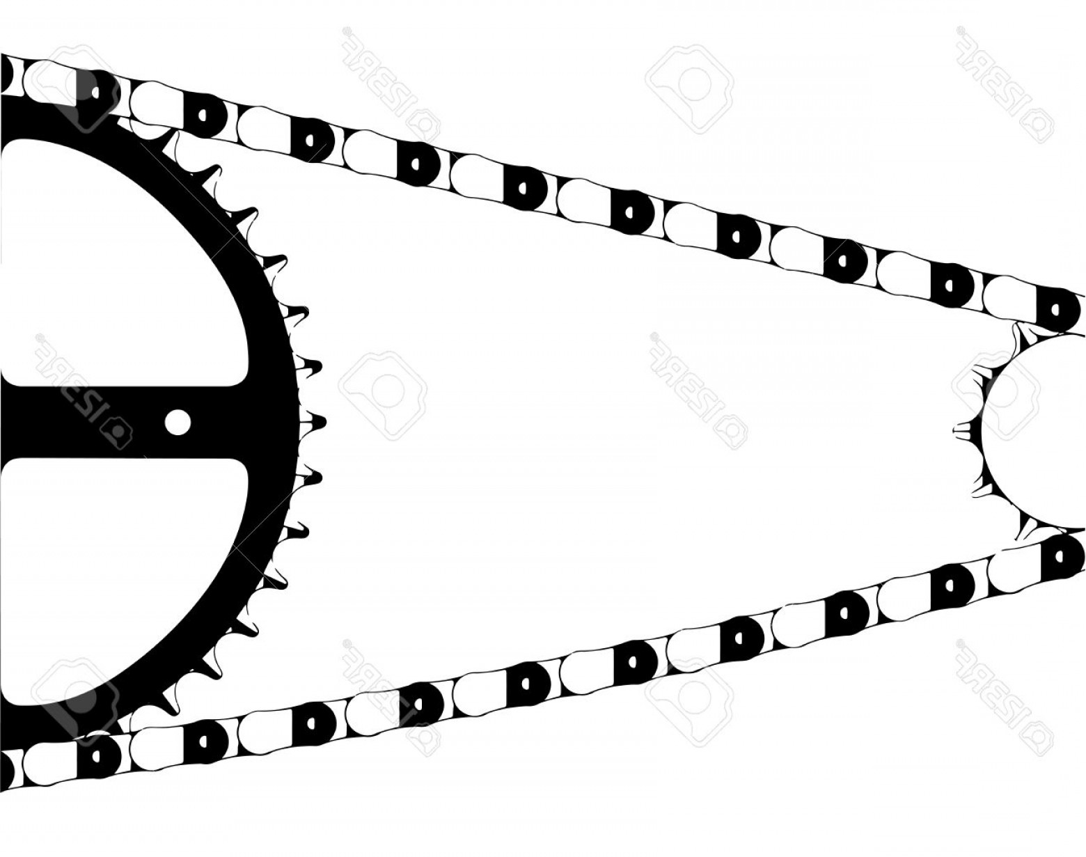 Bicycle Crank Vector Of Artwork: Photostock Vector A Typical Bicycle Chain And Gears Isolated On A White Background