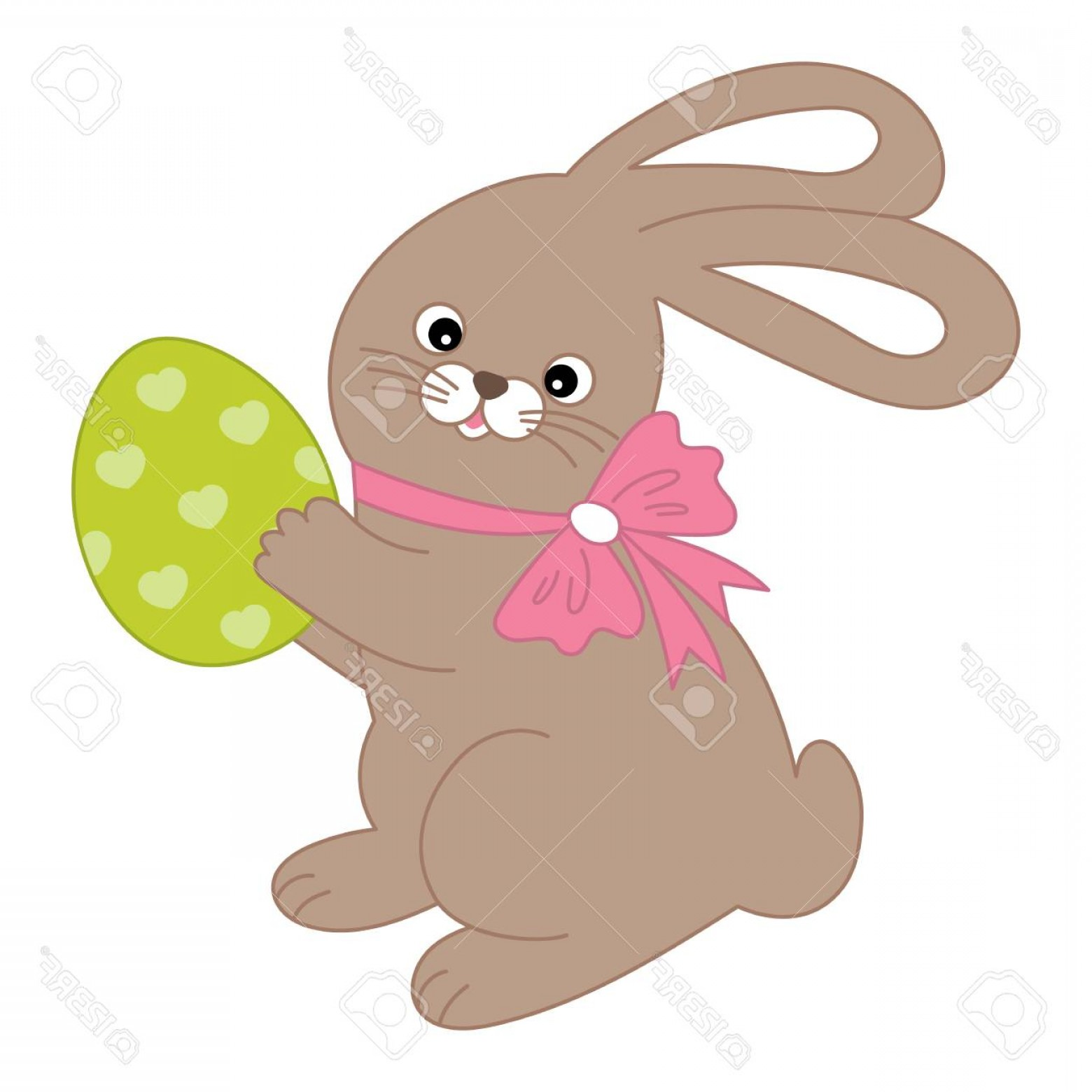 Image Vector Clip Art Bunny Bunny: Photostock Vector A Vector Cute Cartoon Easter Bunny With An Egg Vector Easter Bunny Clip Art Bunny Vector Illustratio