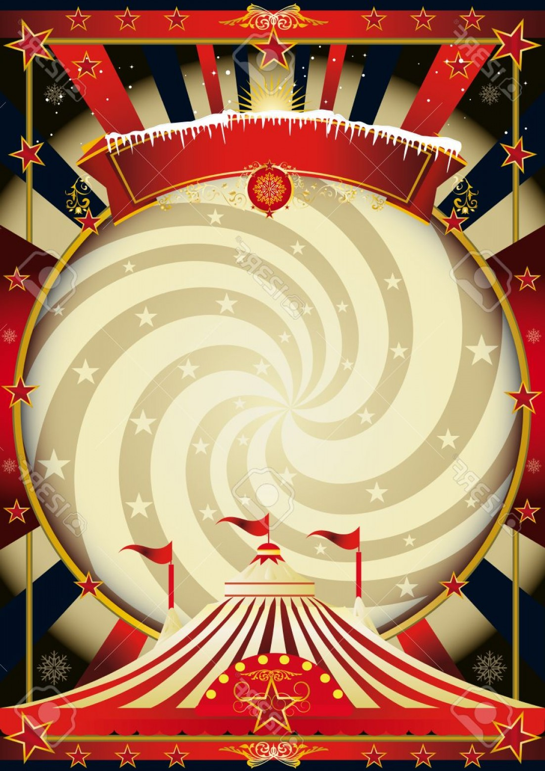 Circus Background Vector: Photostock Vector A Vintage Circus Background For Christmas
