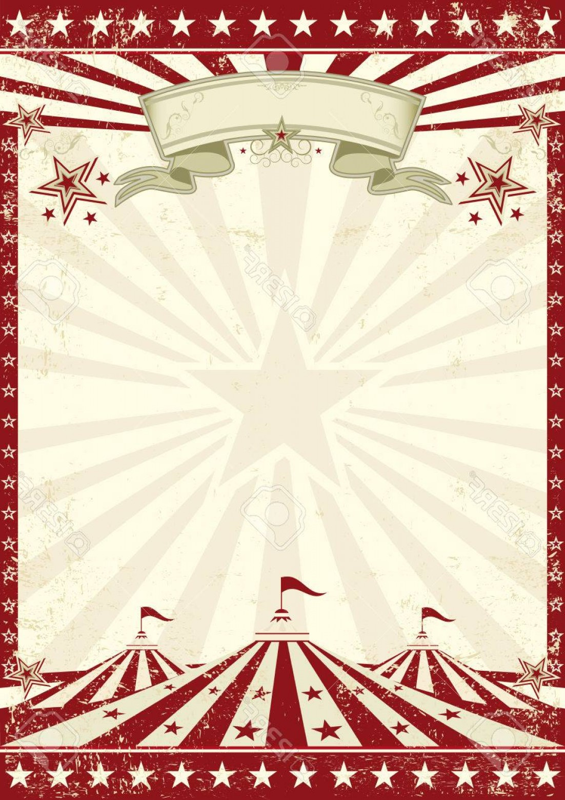 Circus Background Vector: Photostock Vector A Vintage Circus Background With Sunbeams For Your Entertainment