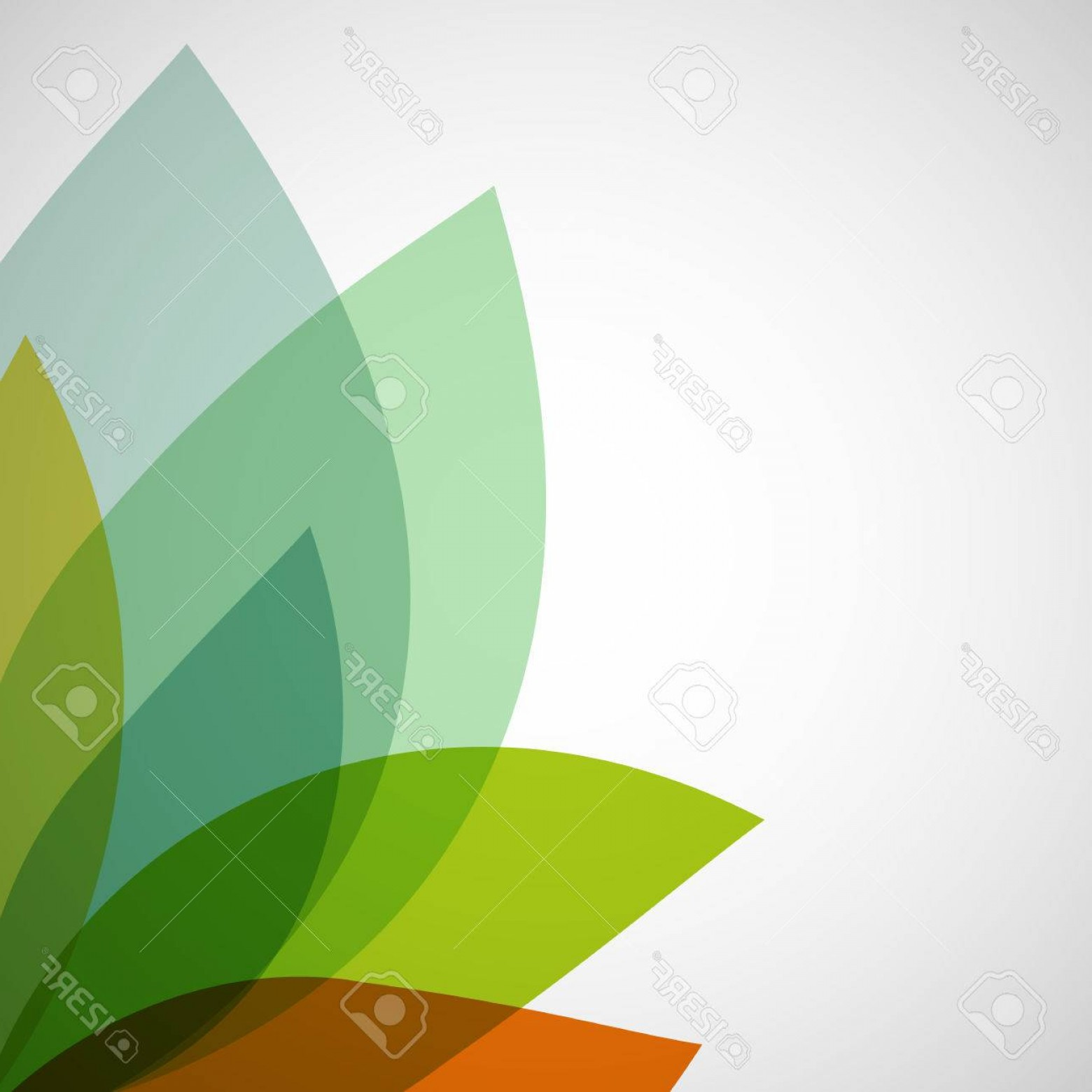Transparent Brown Vector Background: Photostock Vector Abstract Background Of Transparent Leaves Vector Image