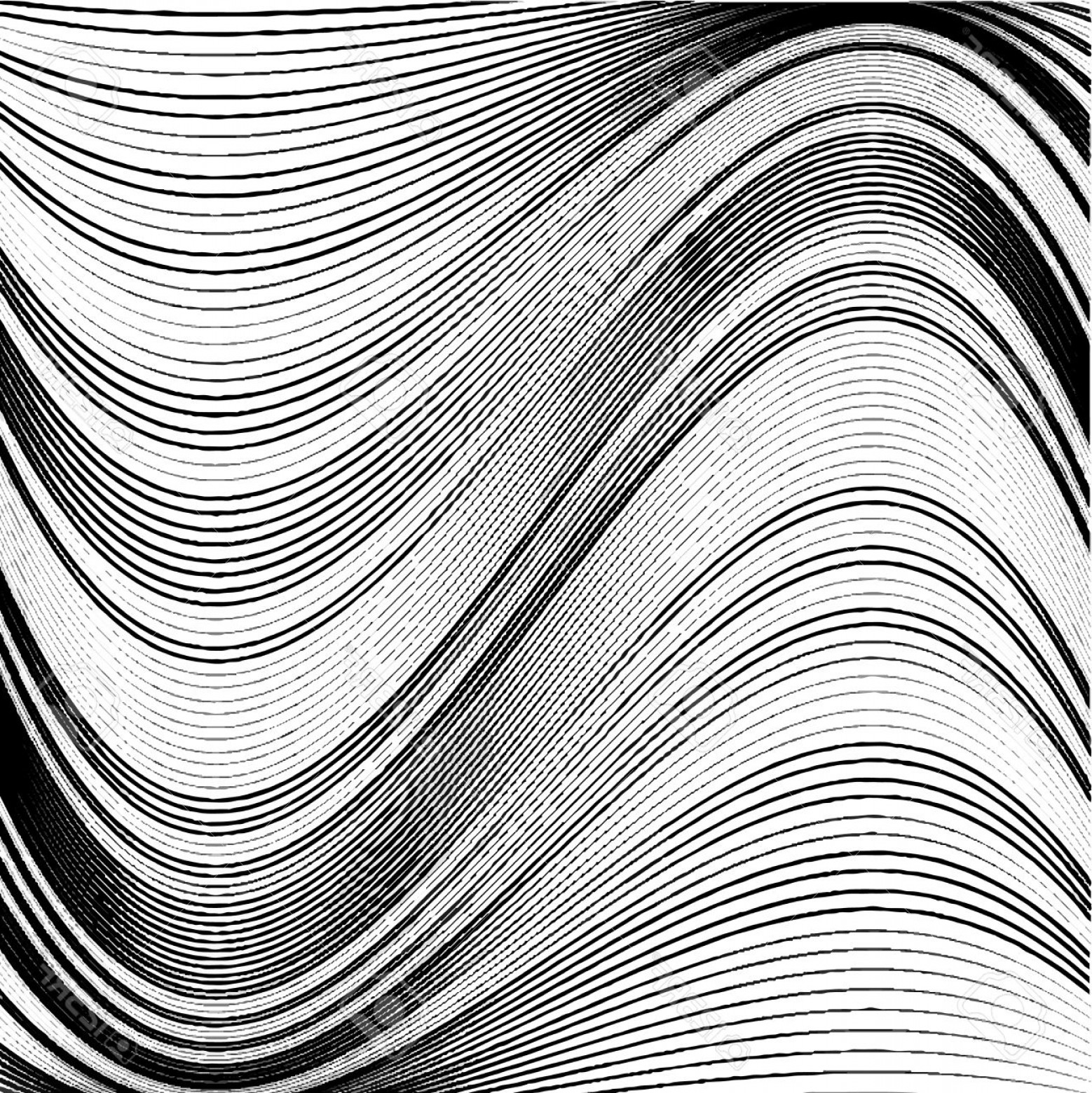 Black Abstract Lines Vector: Photostock Vector Abstract Background Of Wavy Lines Black And White Vector Background