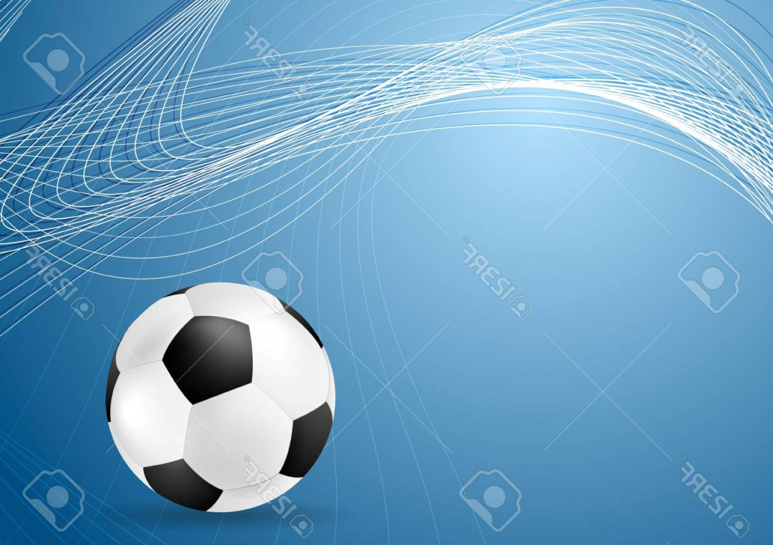 Soccer Blue Background Vector Graphics: Photostock Vector Abstract Blue Wavy Soccer Background With Ball Vector Graphic Sport Design
