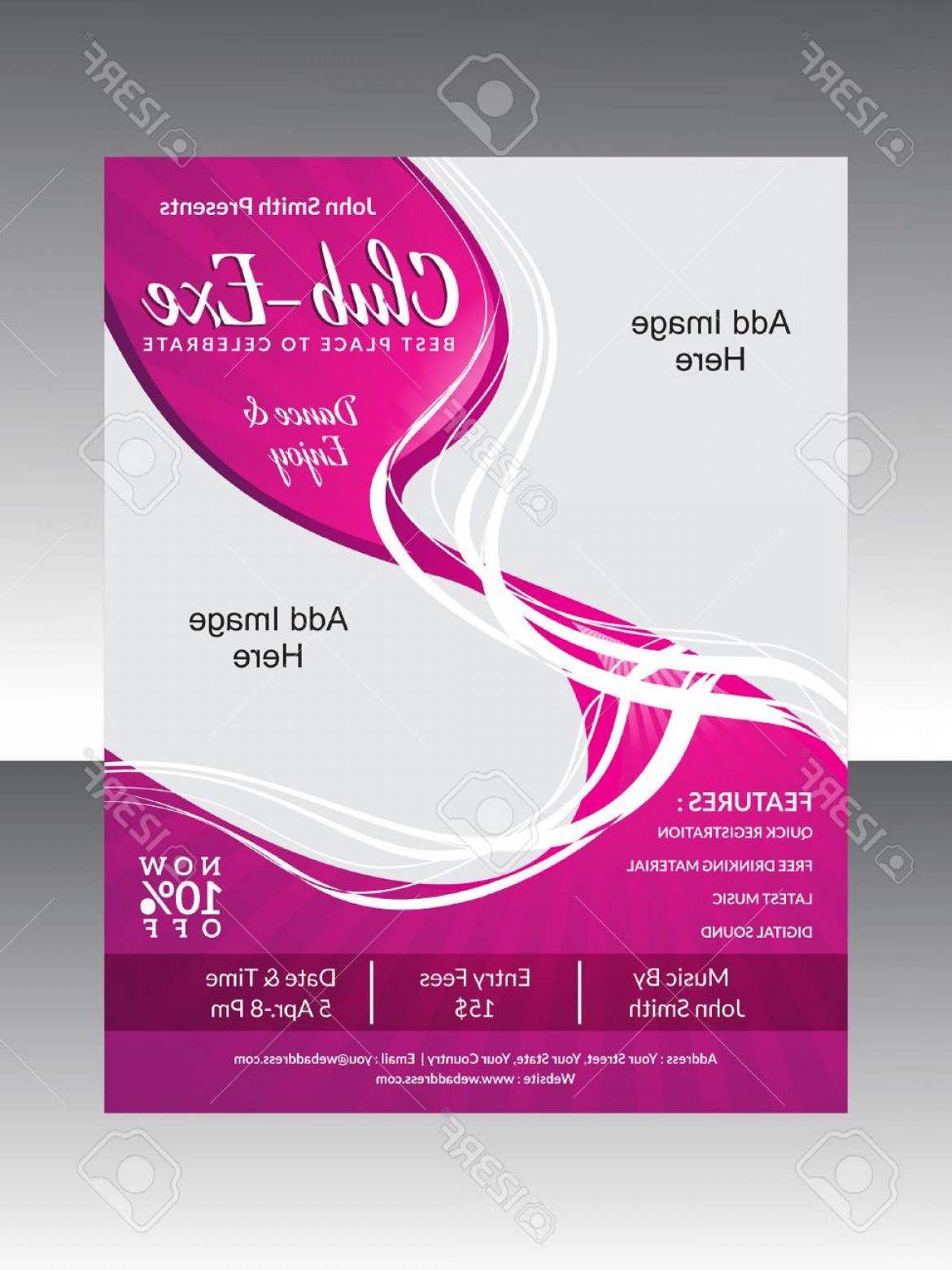 Club Flyer Vector: Photostock Vector Abstract Club Flyer Vector Illustration