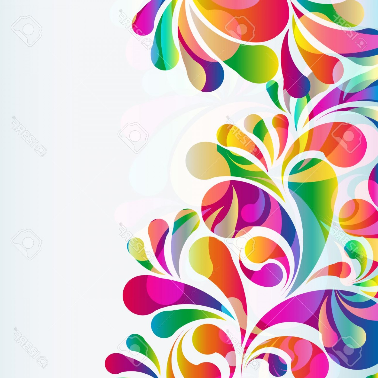 Backgroung Vector: Photostock Vector Abstract Colorful Arc Drop Background Vector