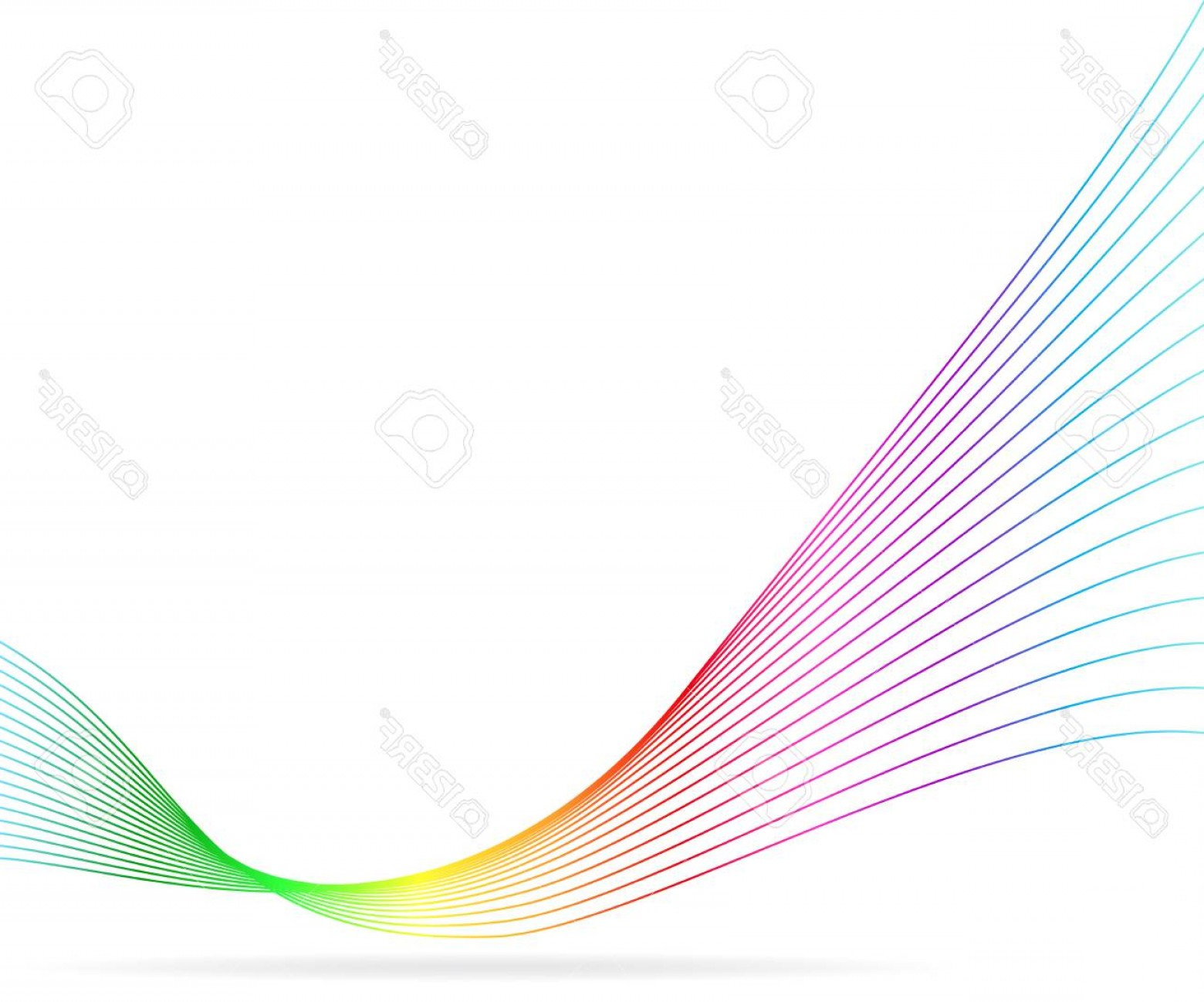 Wavy Line Illustrator Vector: Photostock Vector Abstract Colorful Vector Background Wavy Lines Illustration