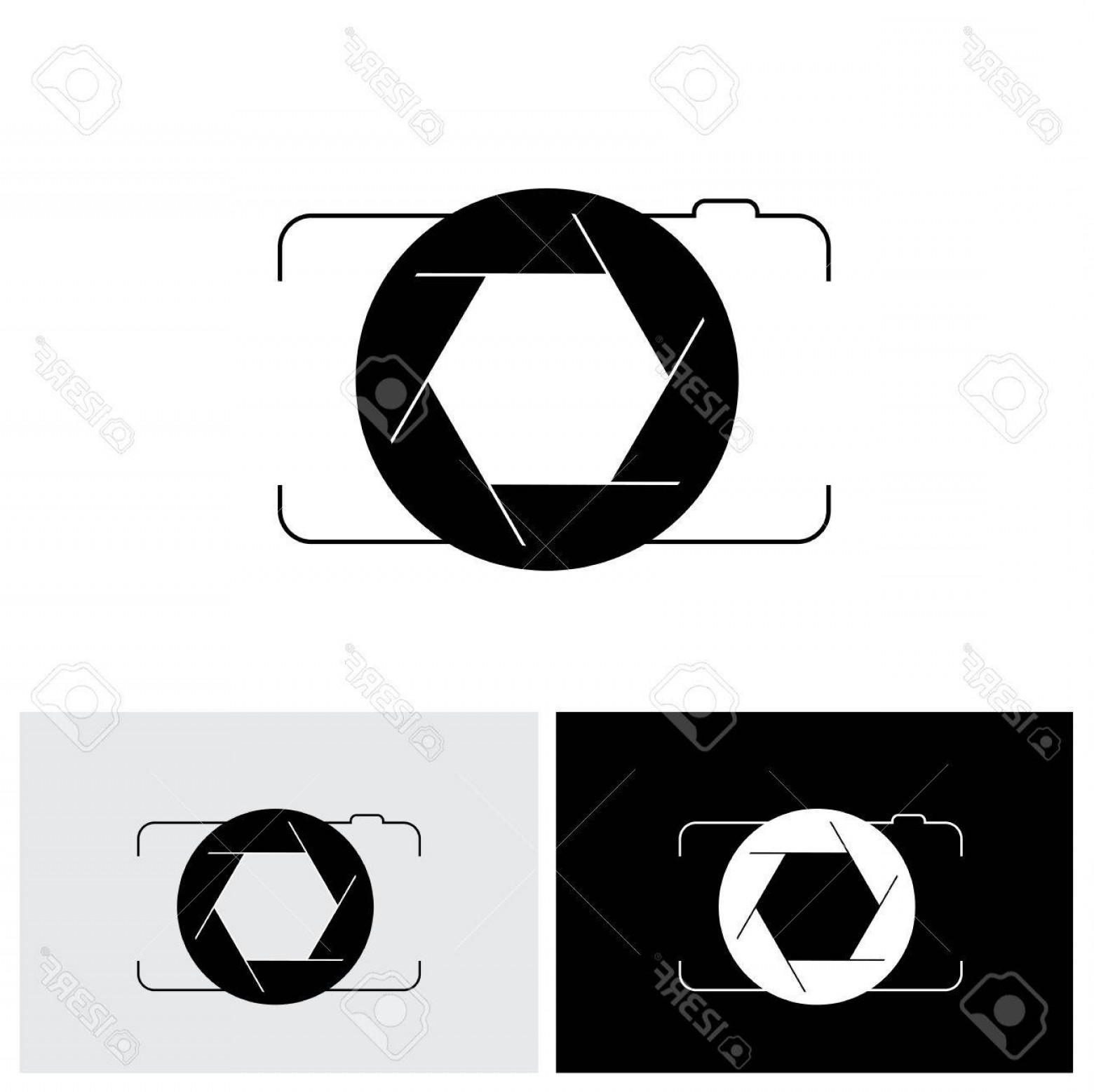 Camera Outline Vector Graphic: Photostock Vector Abstract Digital Camera Shutter Icon Outline Front View This Vector Graphic Is Simple Vector Represe