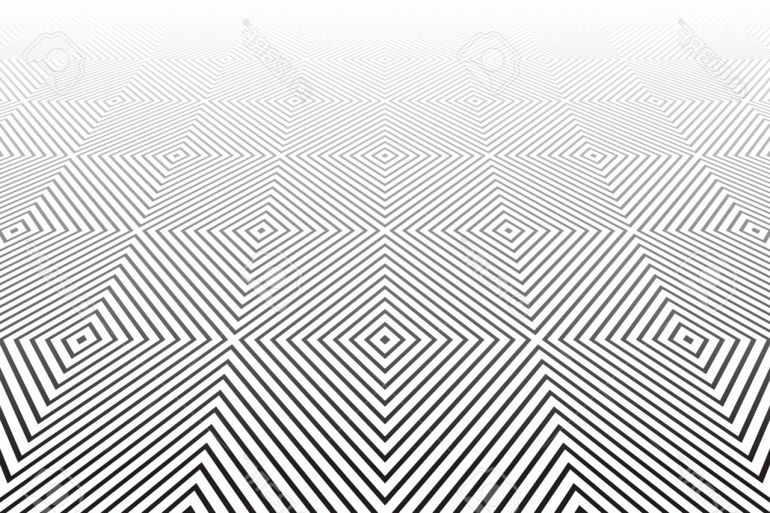 Perspective Vector: Photostock Vector Abstract Geometric Pattern Diminishing Perspective Vector Art