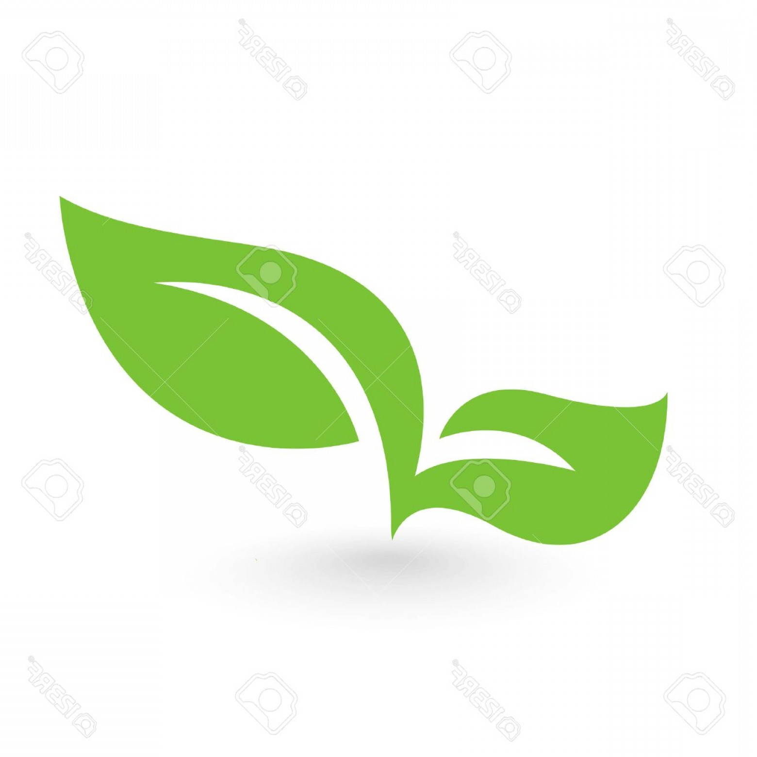 Leaf Vector Logo: Photostock Vector Abstract Leafs Care Vector Logo Icon Eco Icon With Green Leaf