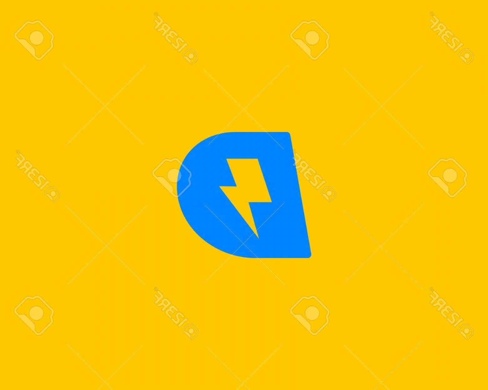 Flash Superhero Logo Vector: Photostock Vector Abstract Letter D Icon Dynamic Unusual Font Universal Fast Speed Fire Moving Quick Energy Icon Flash