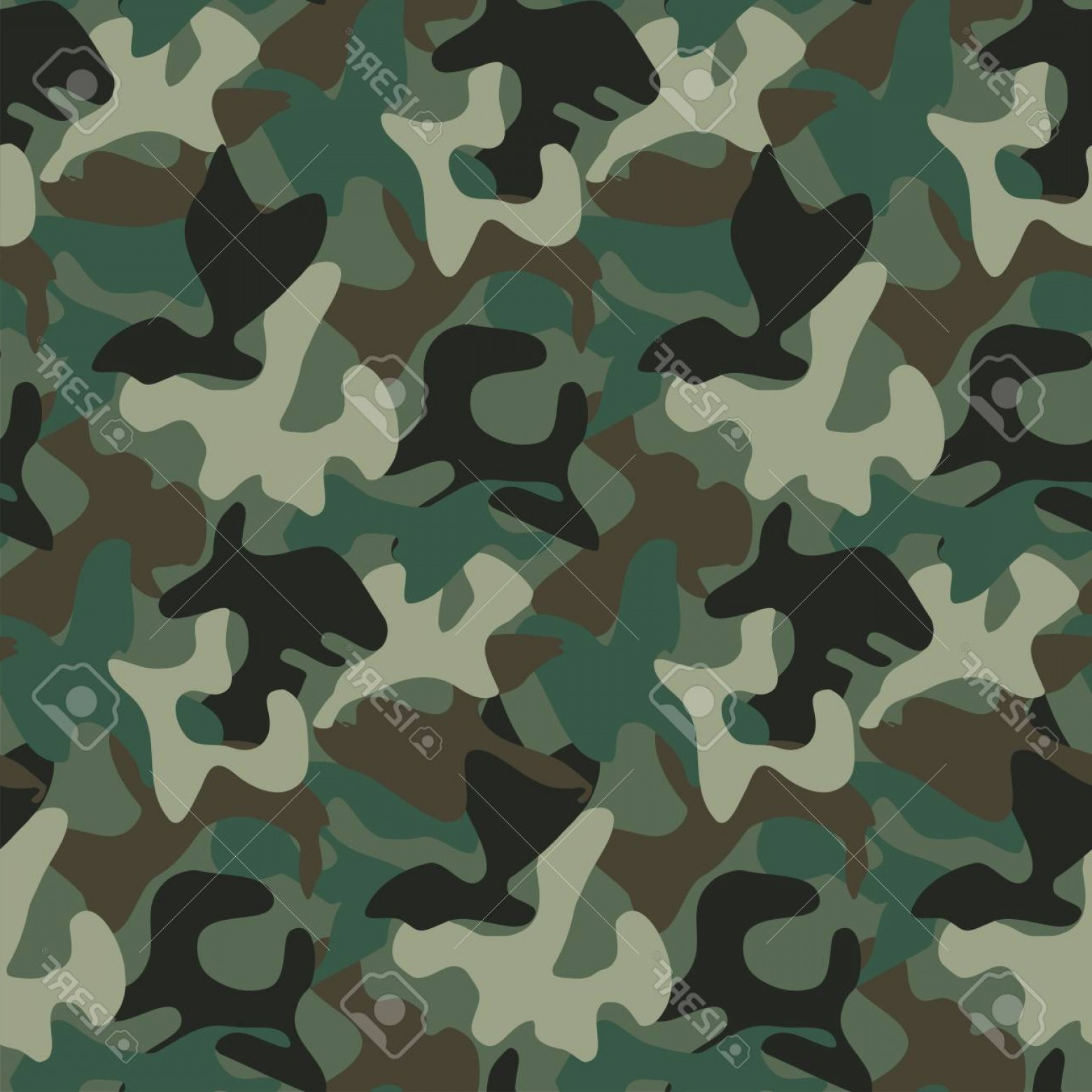 Army Camouflage Pattern Vector: Photostock Vector Abstract Military Camouflage Background Made Of Splash Seamless Camo Pattern For Army Clothing