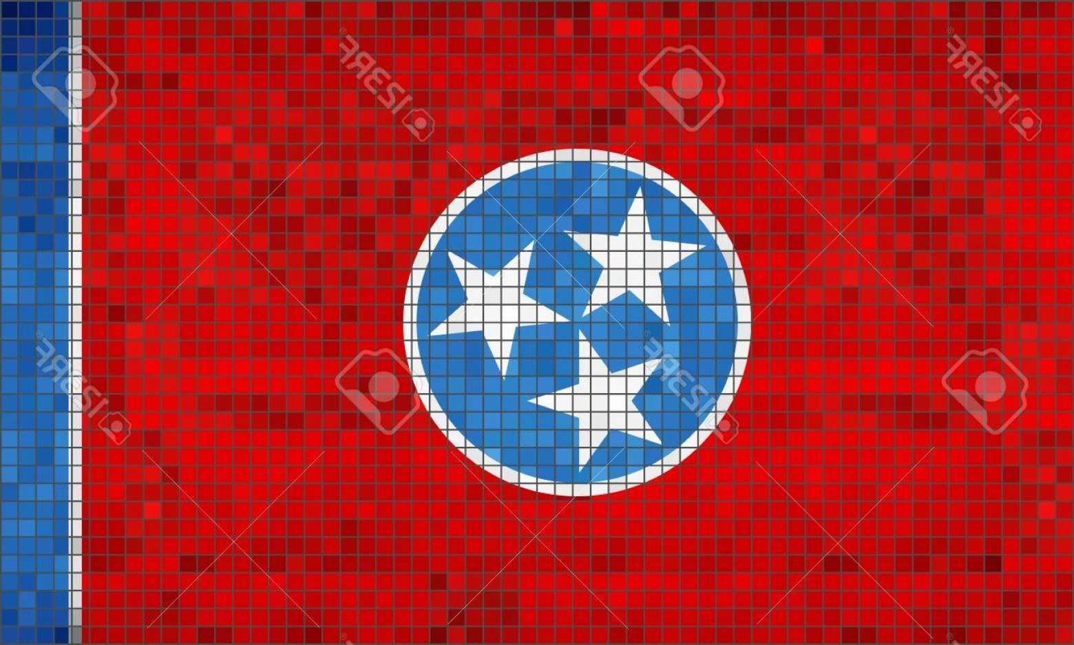 Tennessee Flag Vector: Photostock Vector Abstract Mosaic Flag Of Tennessee Illustration The Flag Of The State Of Tennessee Tennessee Grunge M
