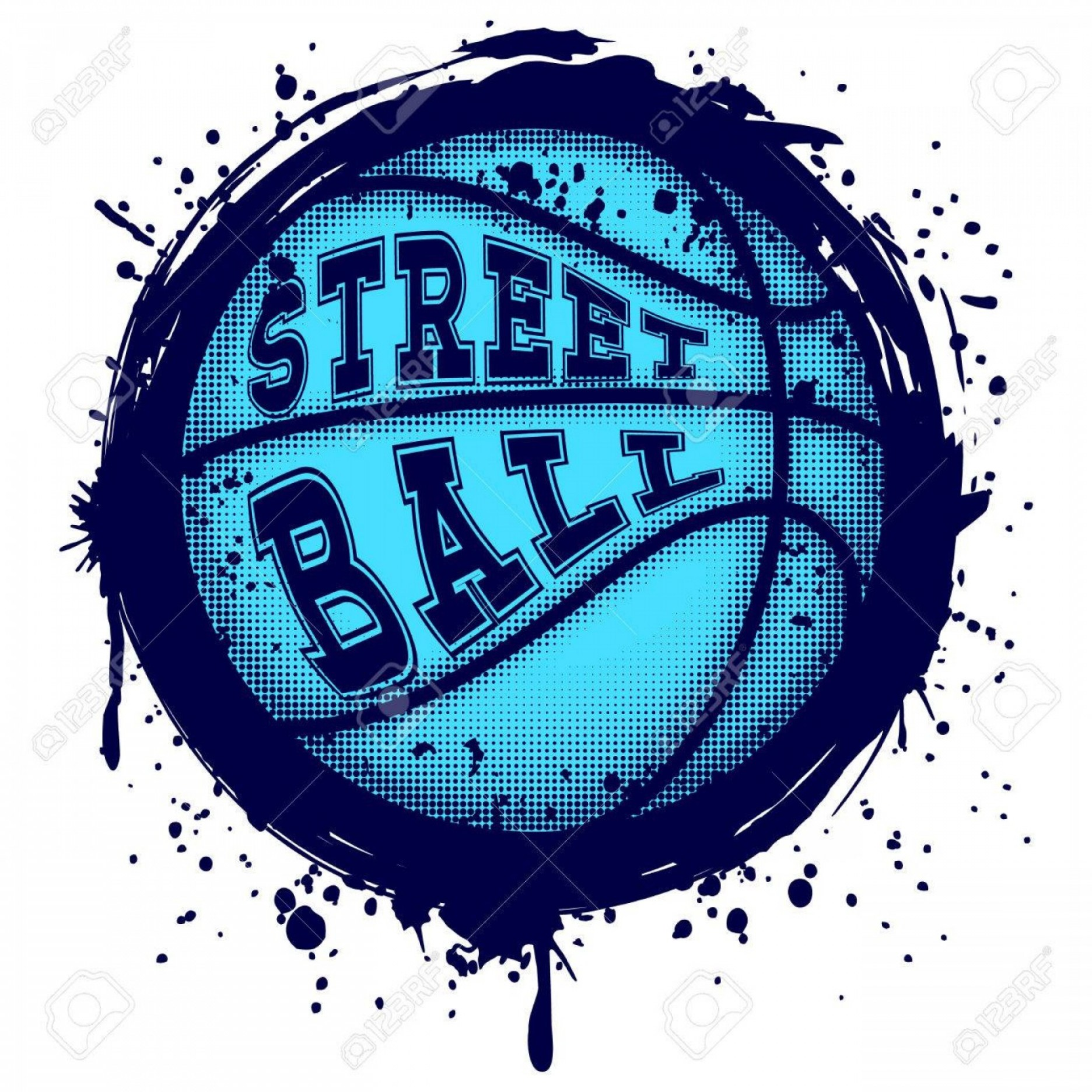 Grunge Basketball Vector: Photostock Vector Abstract Vector Illustration Blue Basketball Ball On Grunge Background