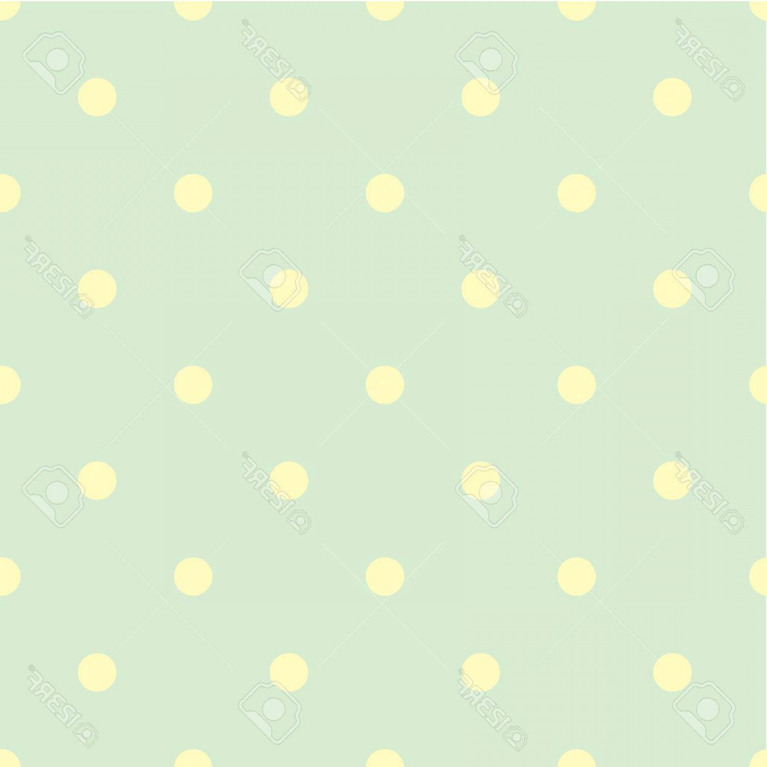 Polka Dot Background Vector Y: Photostock Vector Abstract Vector Seamless Polka Dot Background Seamless Pattern Of Circles Ordered Green Background Y