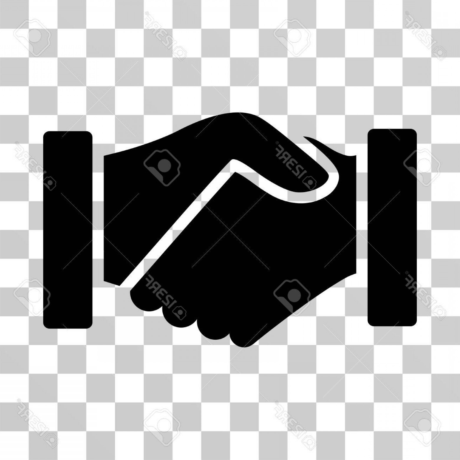 Handshake Clip Art Vector: Photostock Vector Acquisition Handshake Icon Vector Illustration Style Is Flat Iconic Symbol Black Color Transparent B