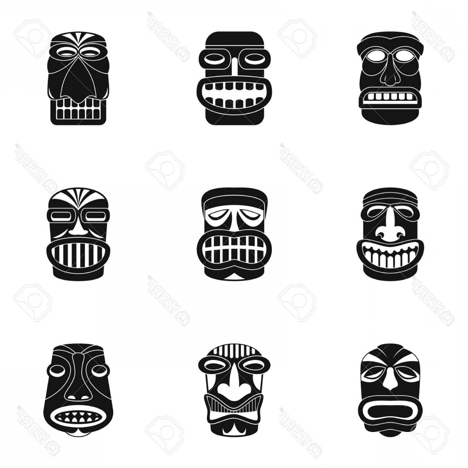 Vector African People: Photostock Vector African People Icons Set Simple Set Of African People Vector Icons For Web Isolated On White Backg