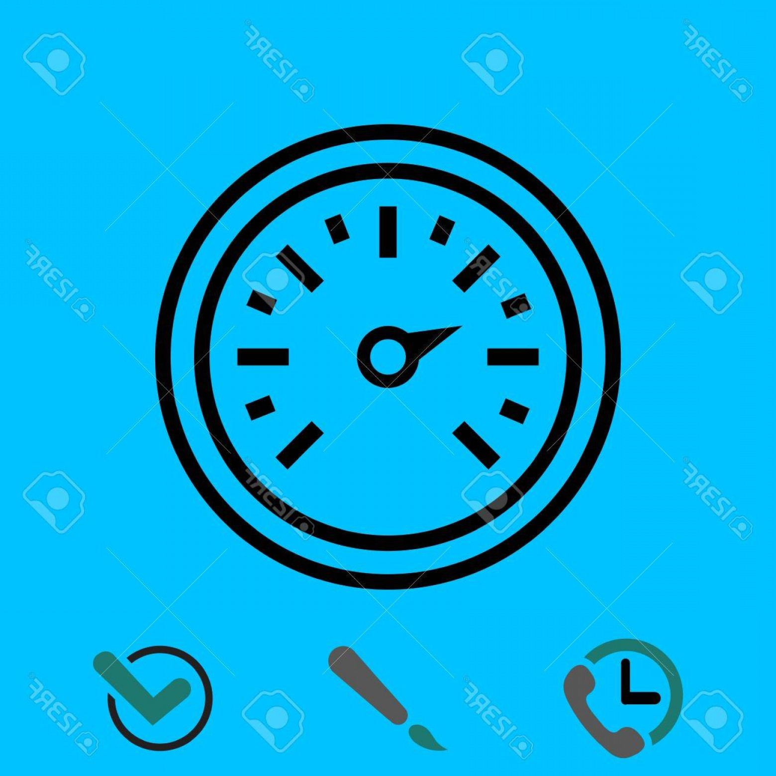 In Icon Stock Vector: Photostock Vector Air Pressure Sensor Icon Stock Vector Illustration Flat Design