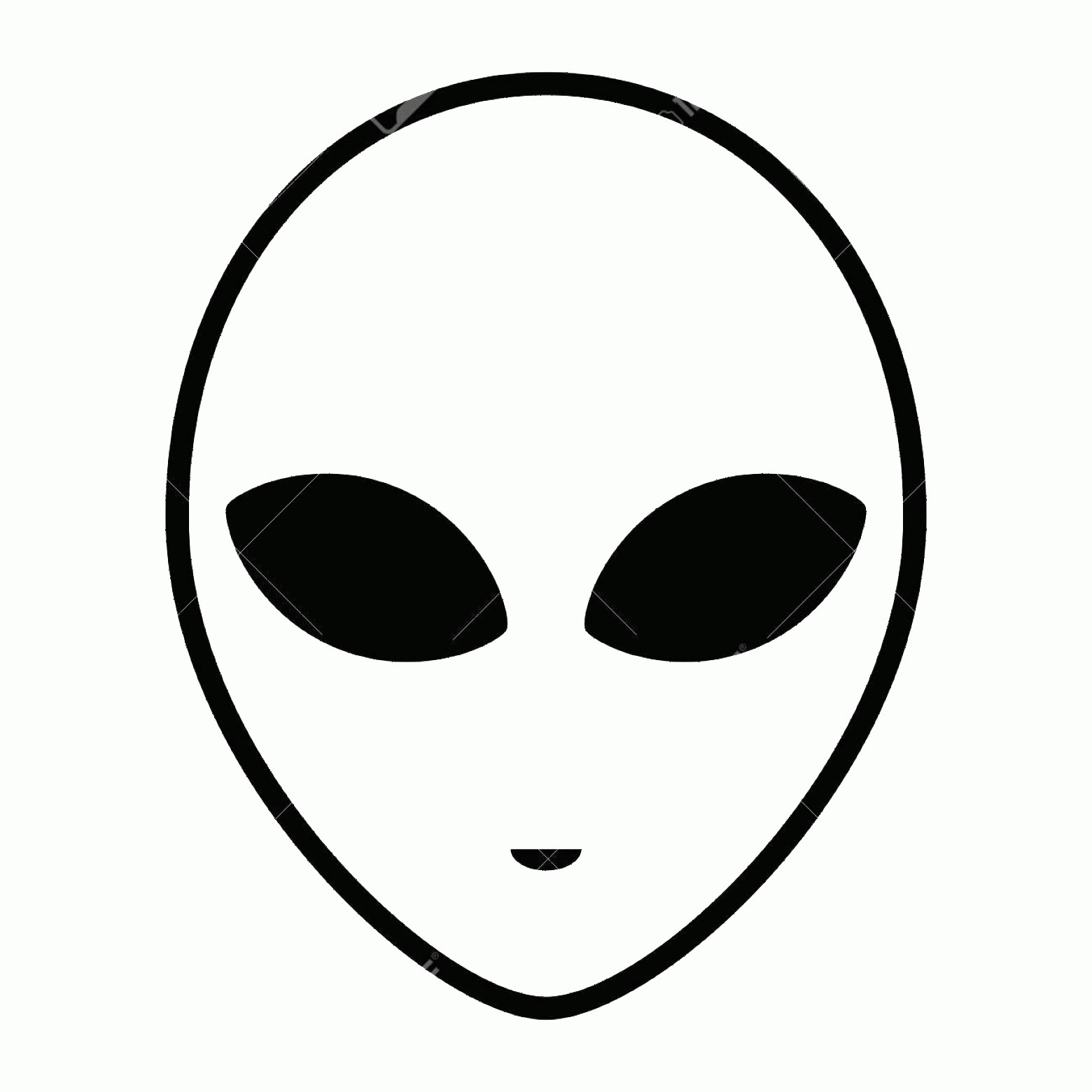 Alien Head Vector: Photostock Vector Alien Icon Face With Large Eyes Isolated On White Background Extraterrestrial Humanoid Head Vector I
