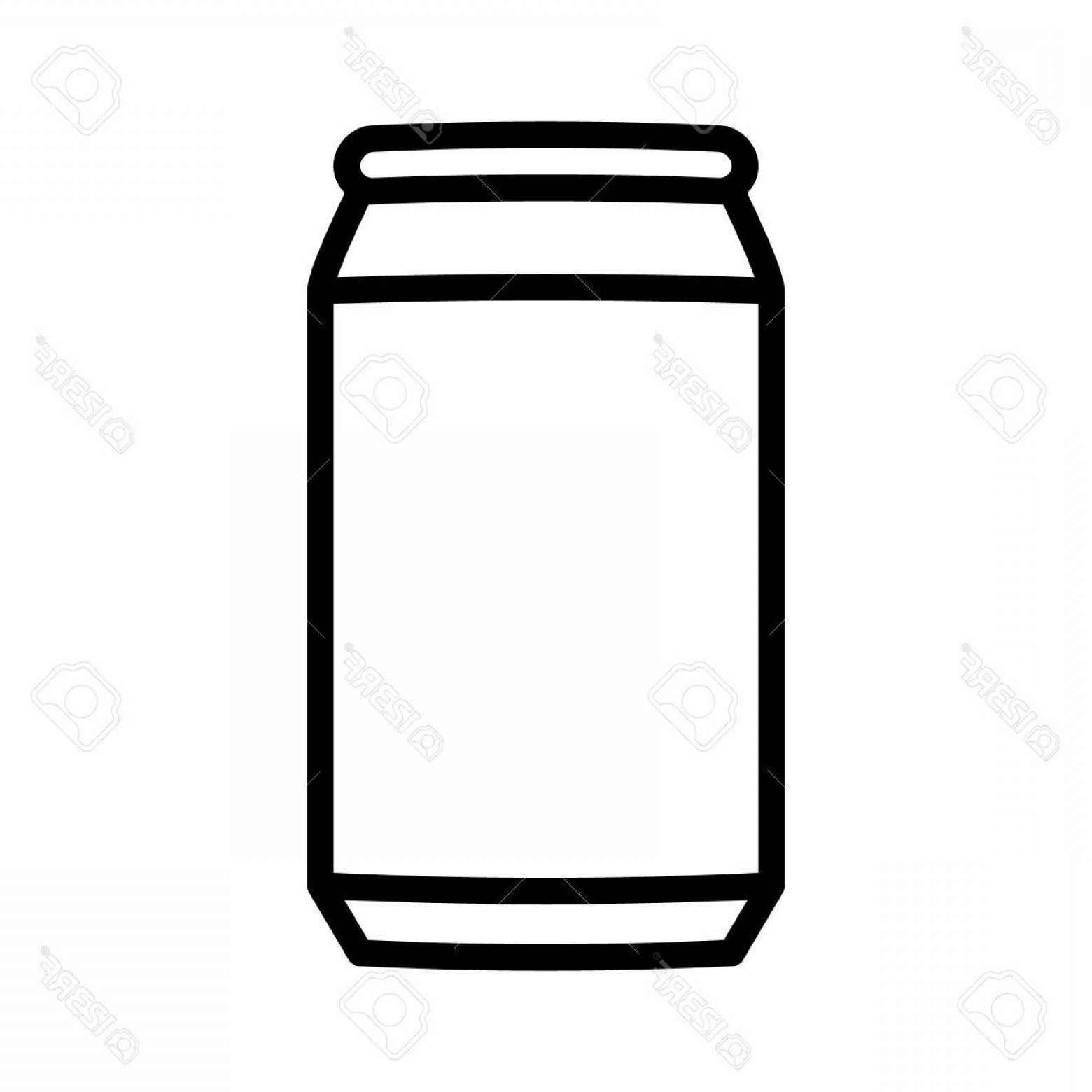 Can Vector: Photostock Vector Aluminum Soda Or Beer Can Line Art Vector Icon For Apps And Websites