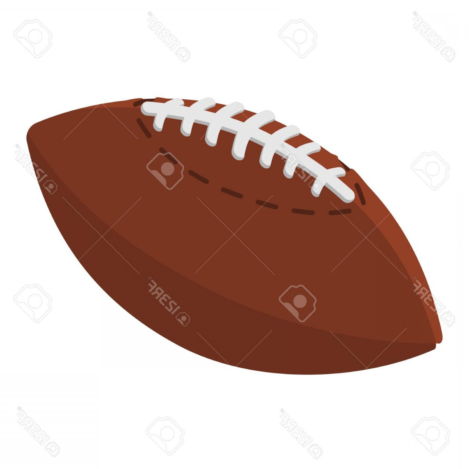 High Res Vector American Football: Photostock Vector American Football Ball Cartoon Illustration Cartoon Symbol On A White Background
