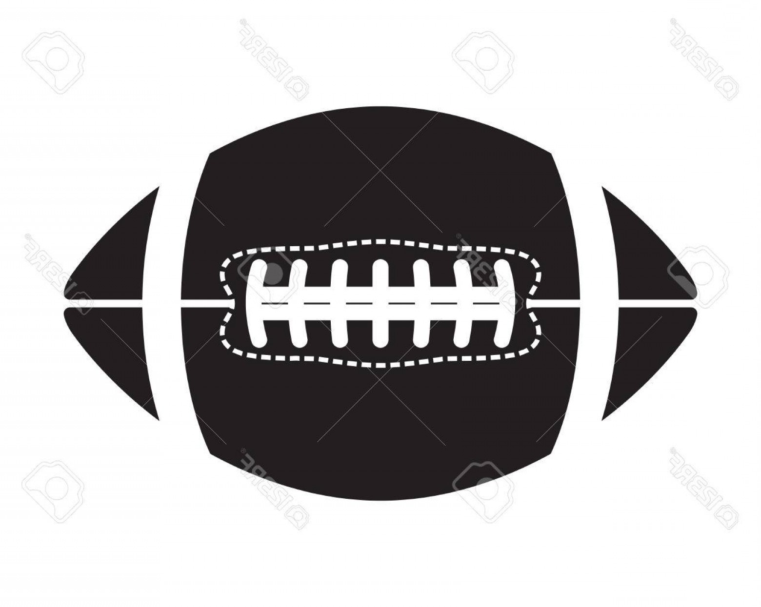 High Res Vector American Football: Photostock Vector American Football Ball Vector Icon