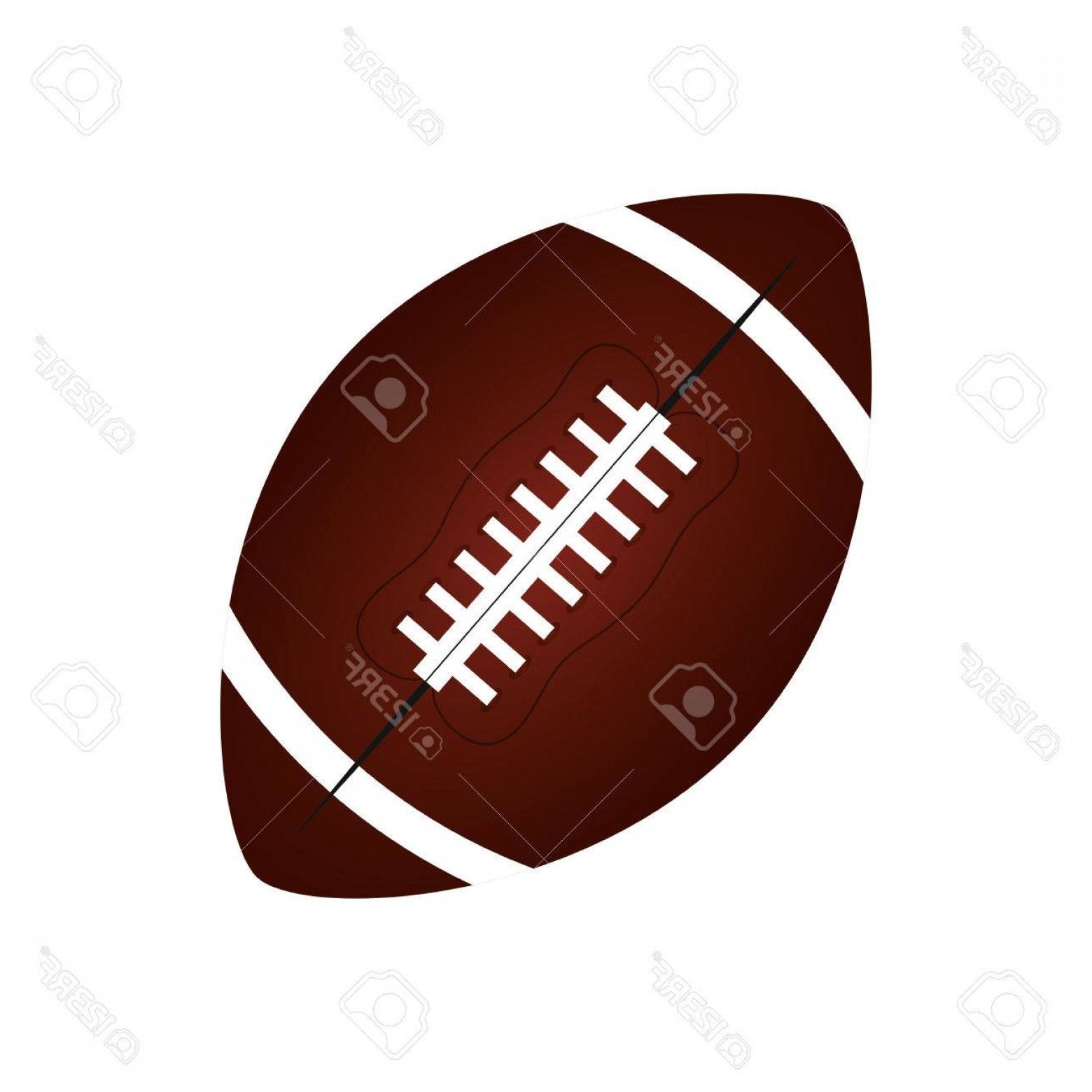 High Res Vector American Football: Photostock Vector American Football Balloon Isolated Icon Vector Illustration Design