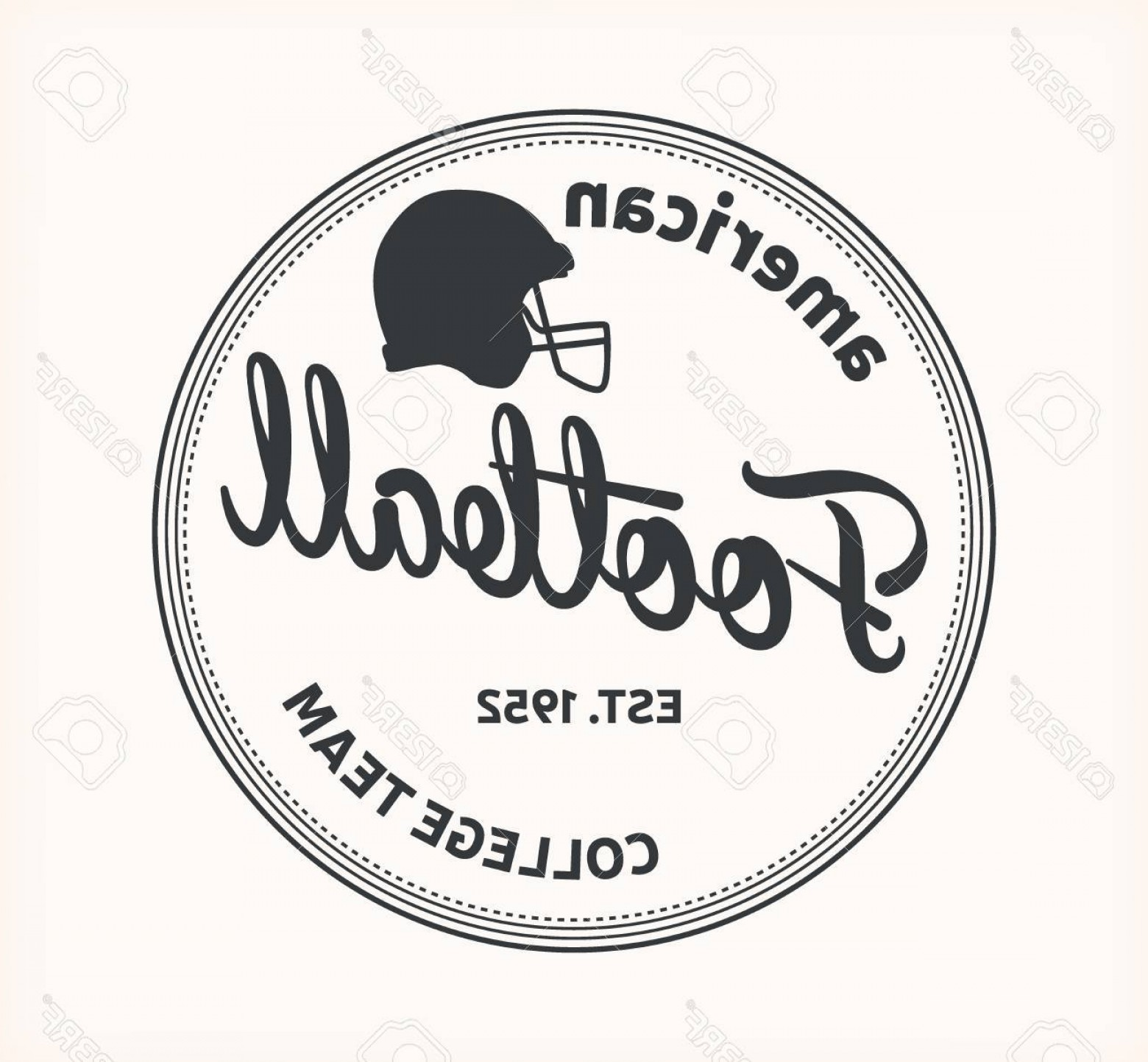 Vector Football Laces And Lines: Photostock Vector American Football Logo College Team Vector Eps