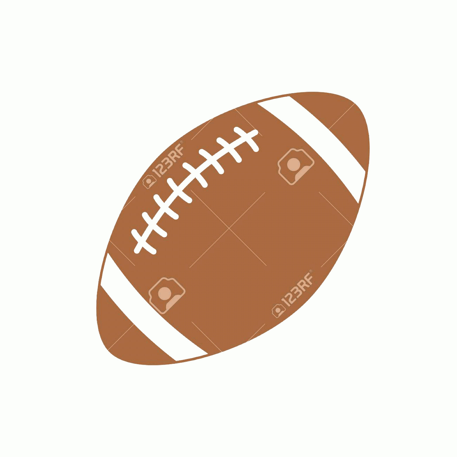 Football Laces Vector Silhouette: Photostock Vector American Football Sport Ball For American Football Vector Icon Isolated On White Background Vector S