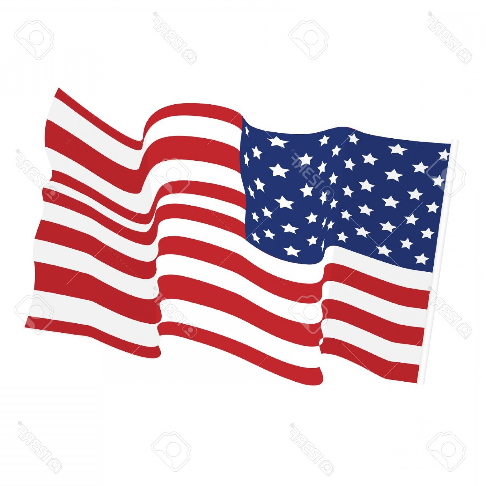American Flag Stars Only Vector: Photostock Vector American Waving Flag Vector Icon National Symbol Red White And Blue With Stars
