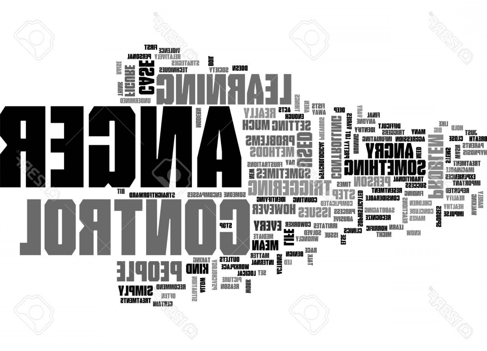 Vector Straightforward: Photostock Vector Anger And Your Health Text Word Cloud Concept