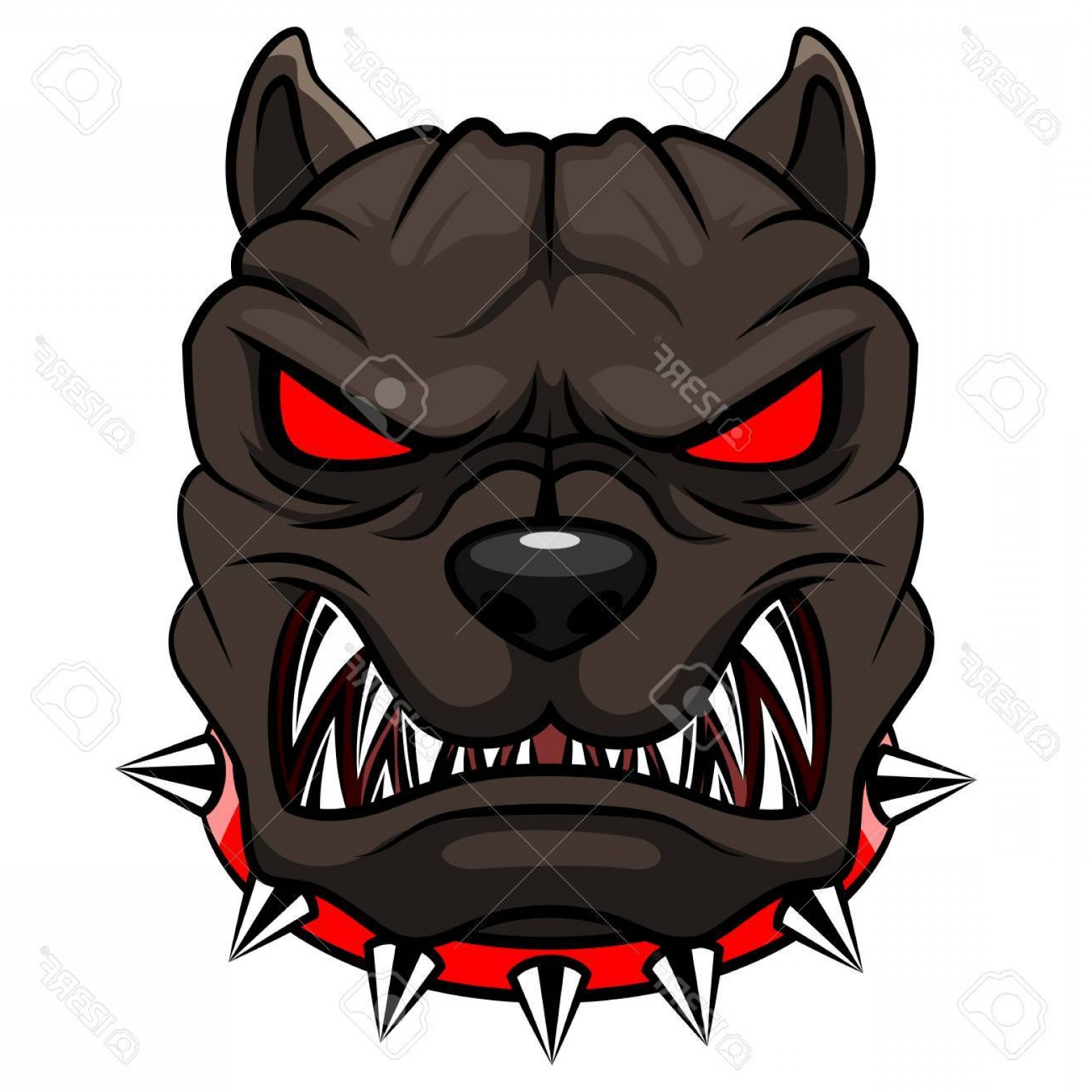 Dog Mascot Vector: Photostock Vector Angry Dog Mascot Cartoon Vector Illustration
